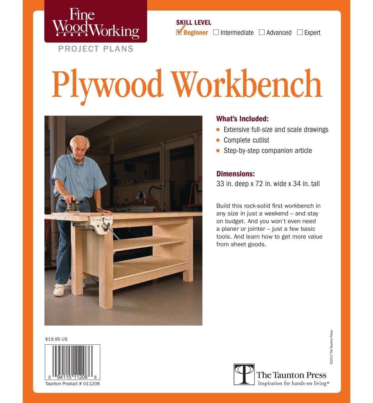 73L2511 - Plywood Workbench Plan