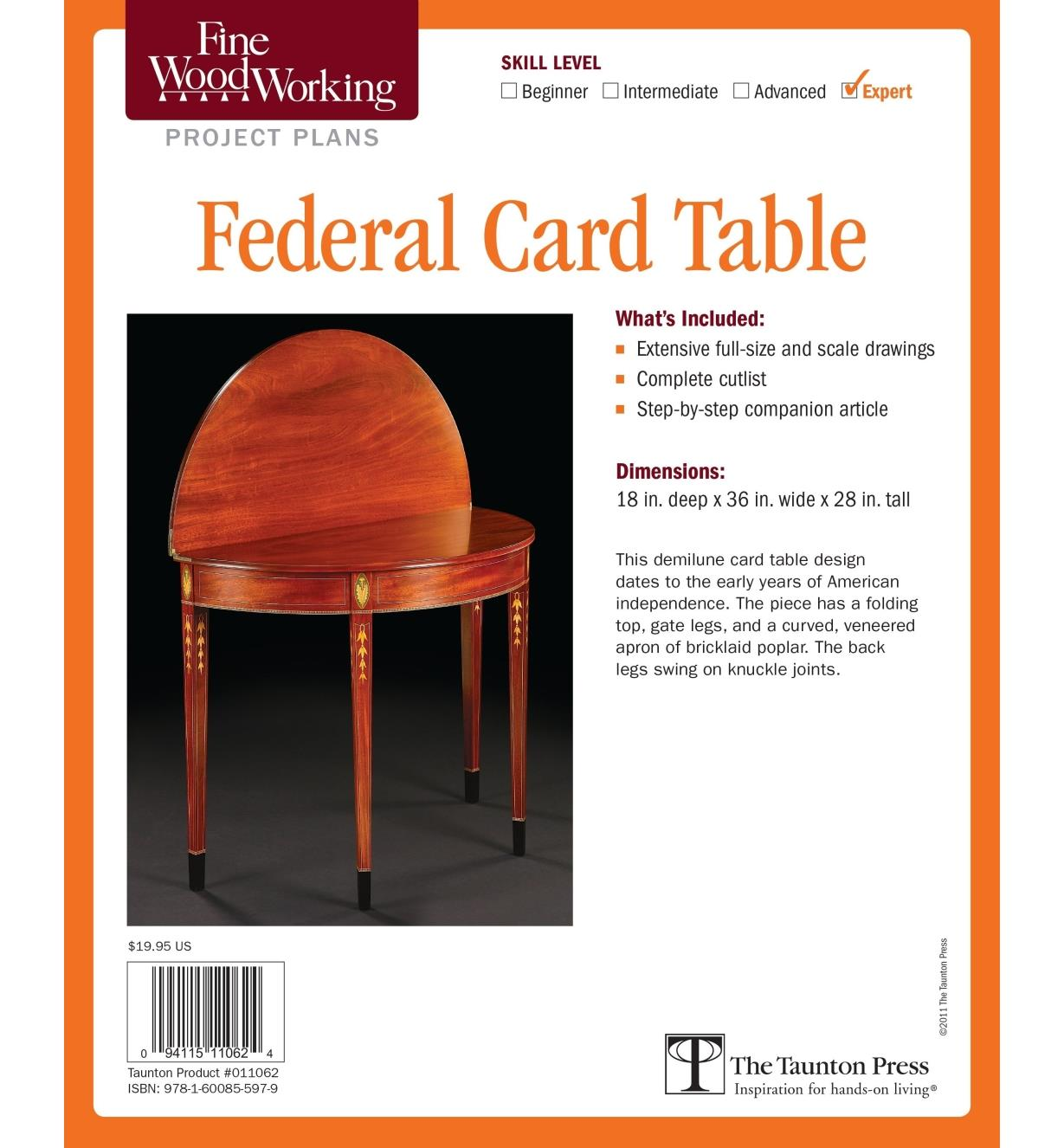 73L2516 - Federal Card Table Plan