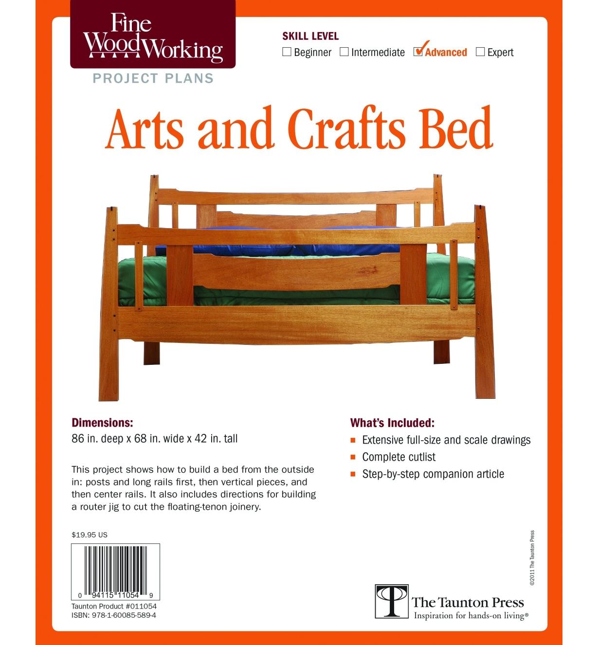 73L2522 - Arts and Crafts Bed Plan