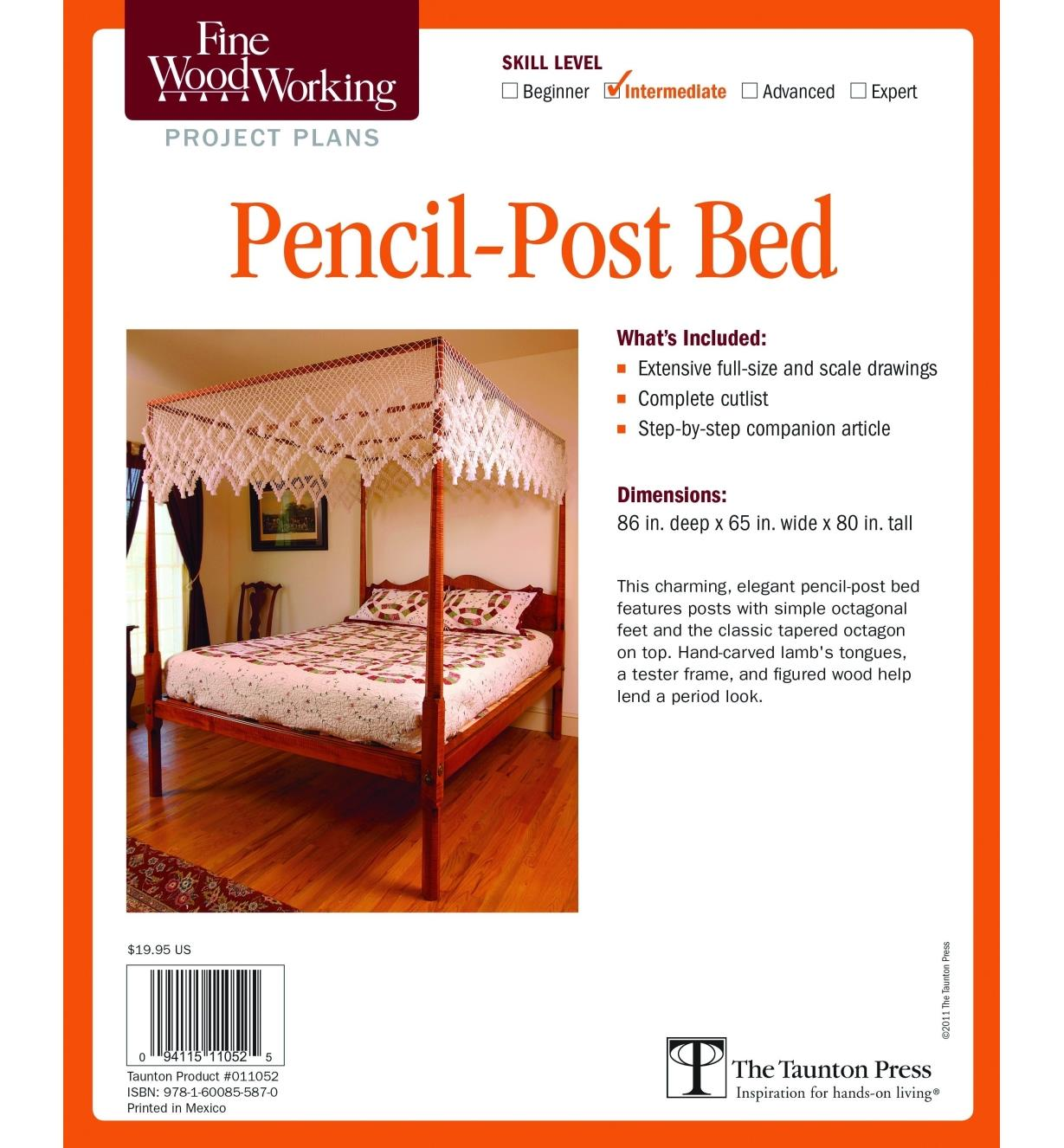 73L2526 - Pencil-Post Bed Plan