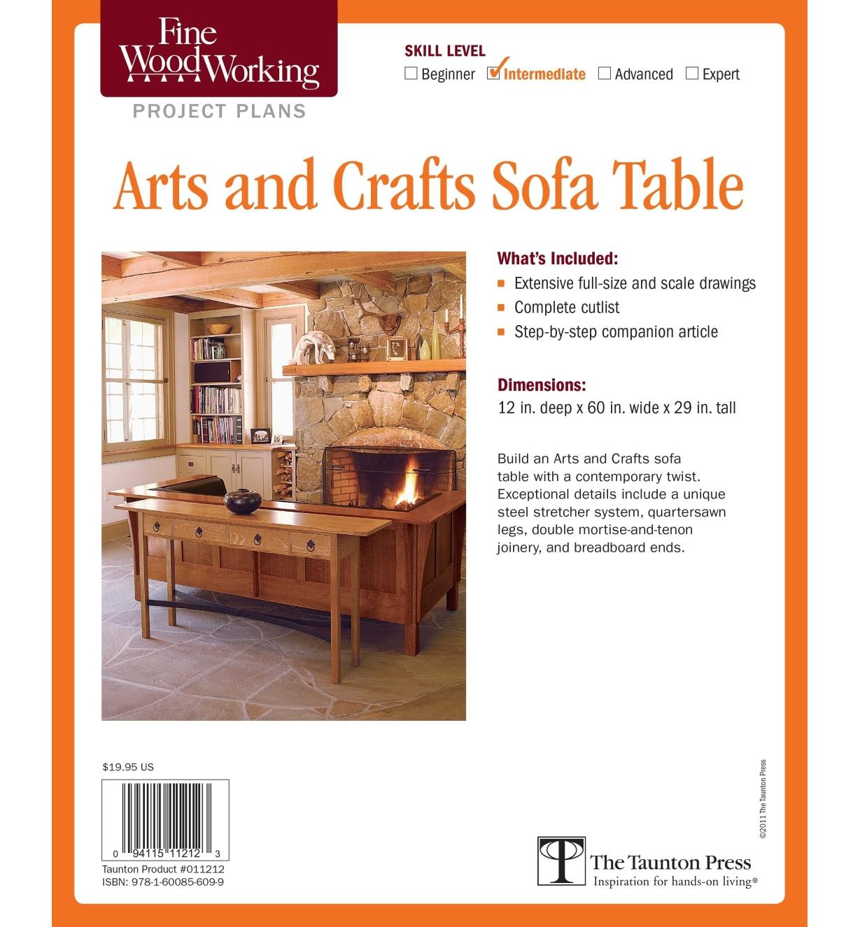 73L2527 - Arts and Crafts Sofa Table Plan