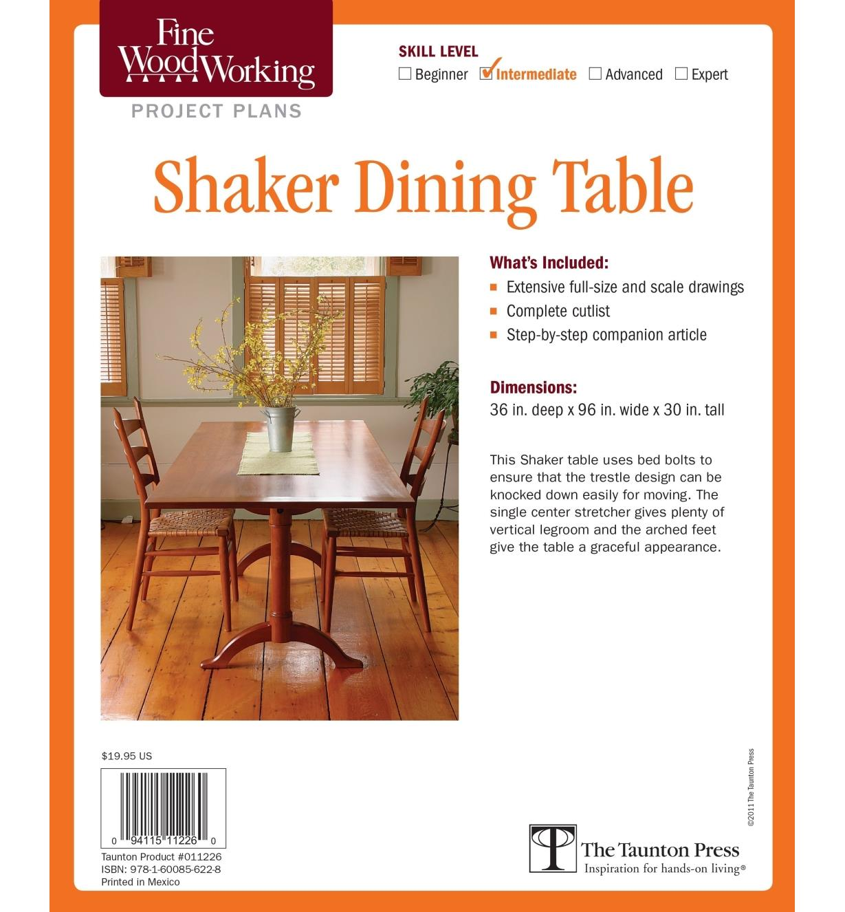 73L2531 - Shaker Dining Table Plan