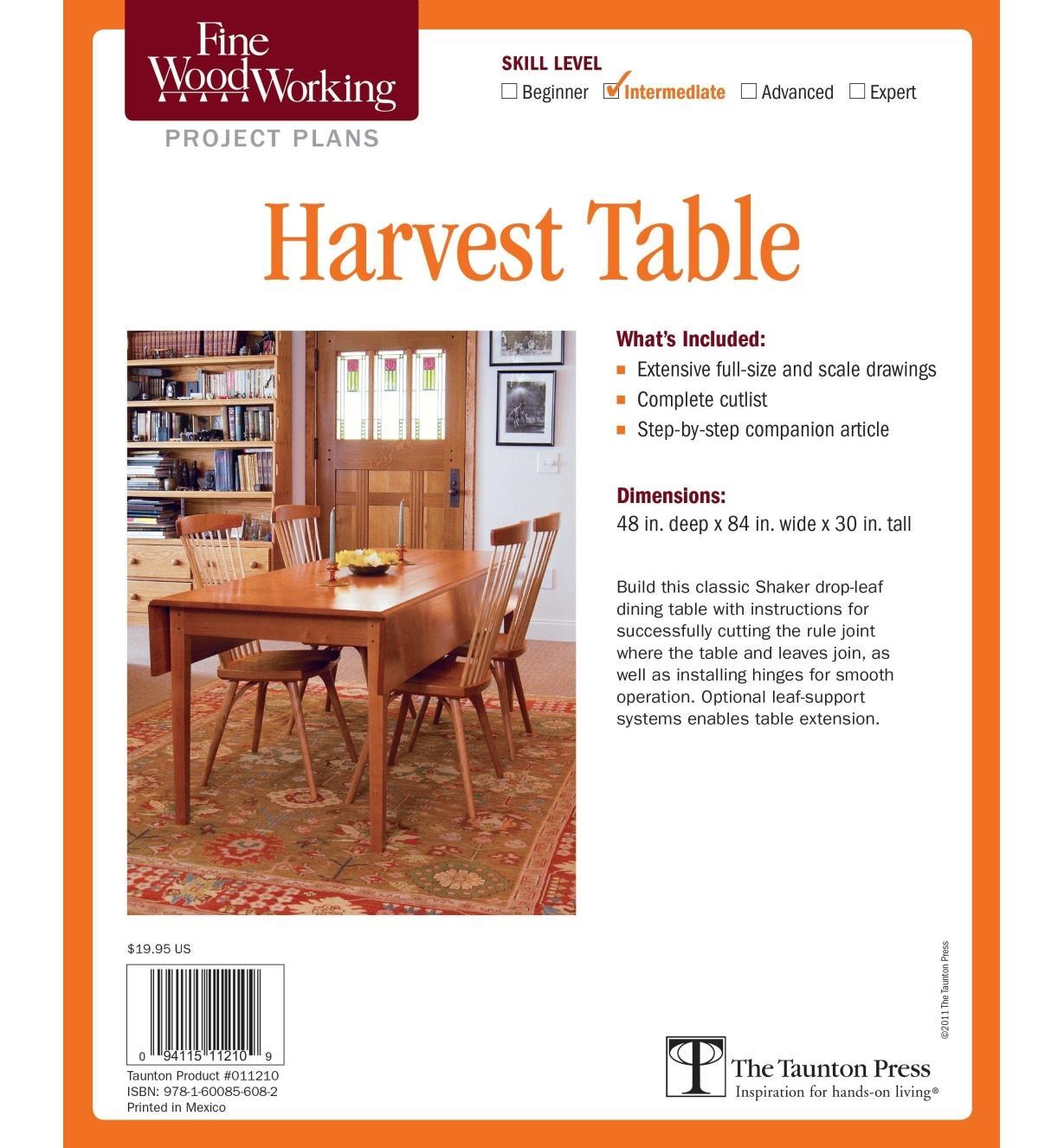 73L2537 - Harvest Table Plan