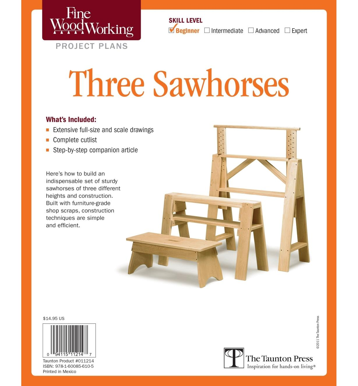 73L2538 - Three Sawhorses Plan