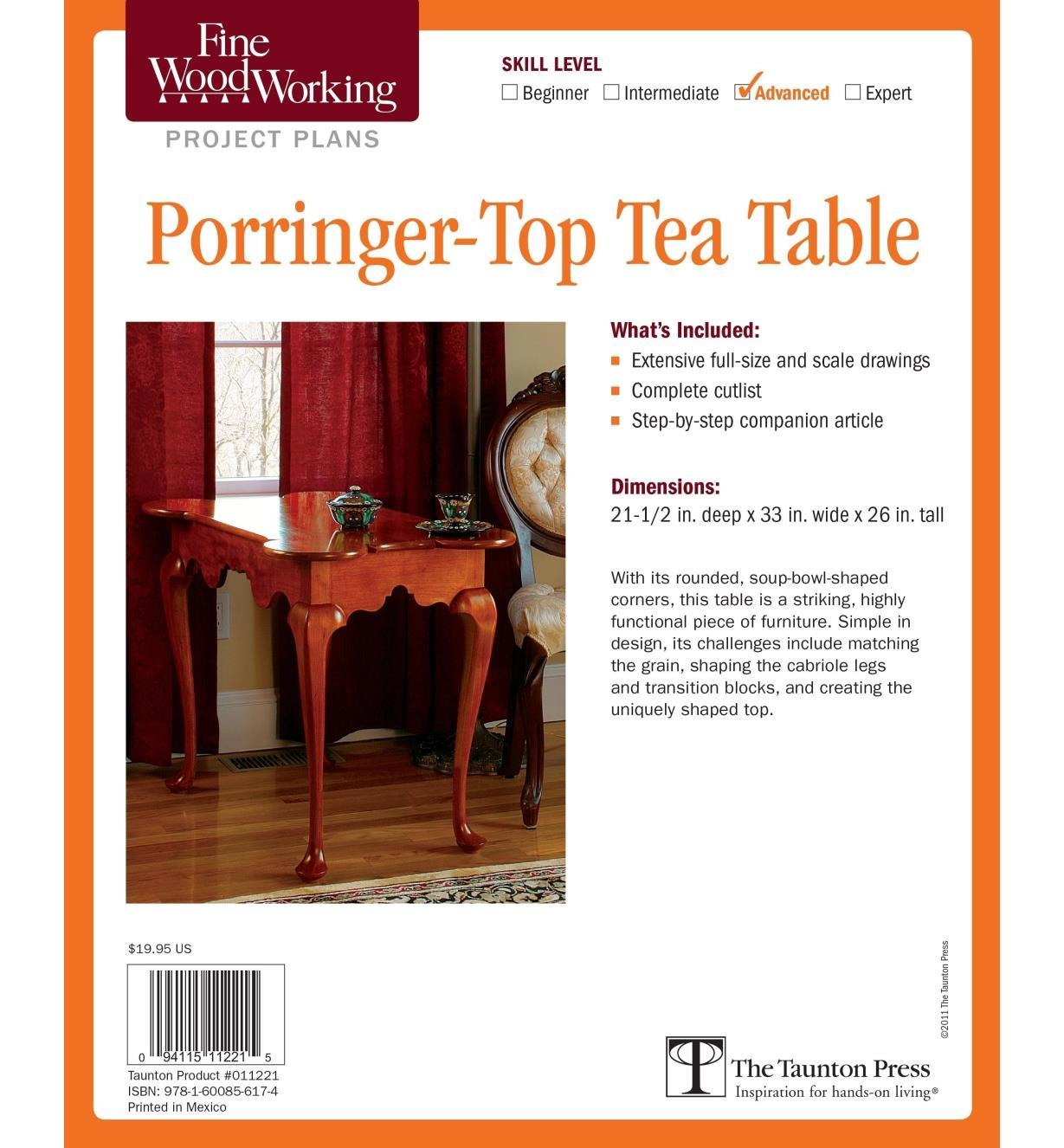 73L2539 - Porringer-Top Tea Table Plan