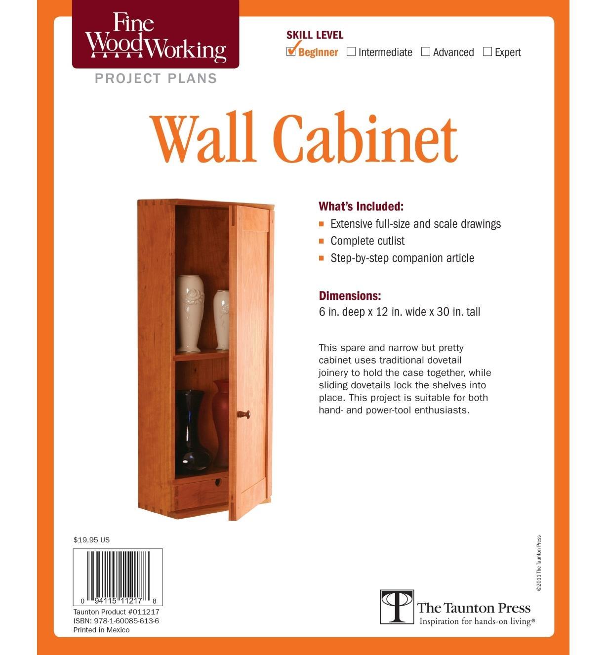 73L2542 - Wall Cabinet Plan