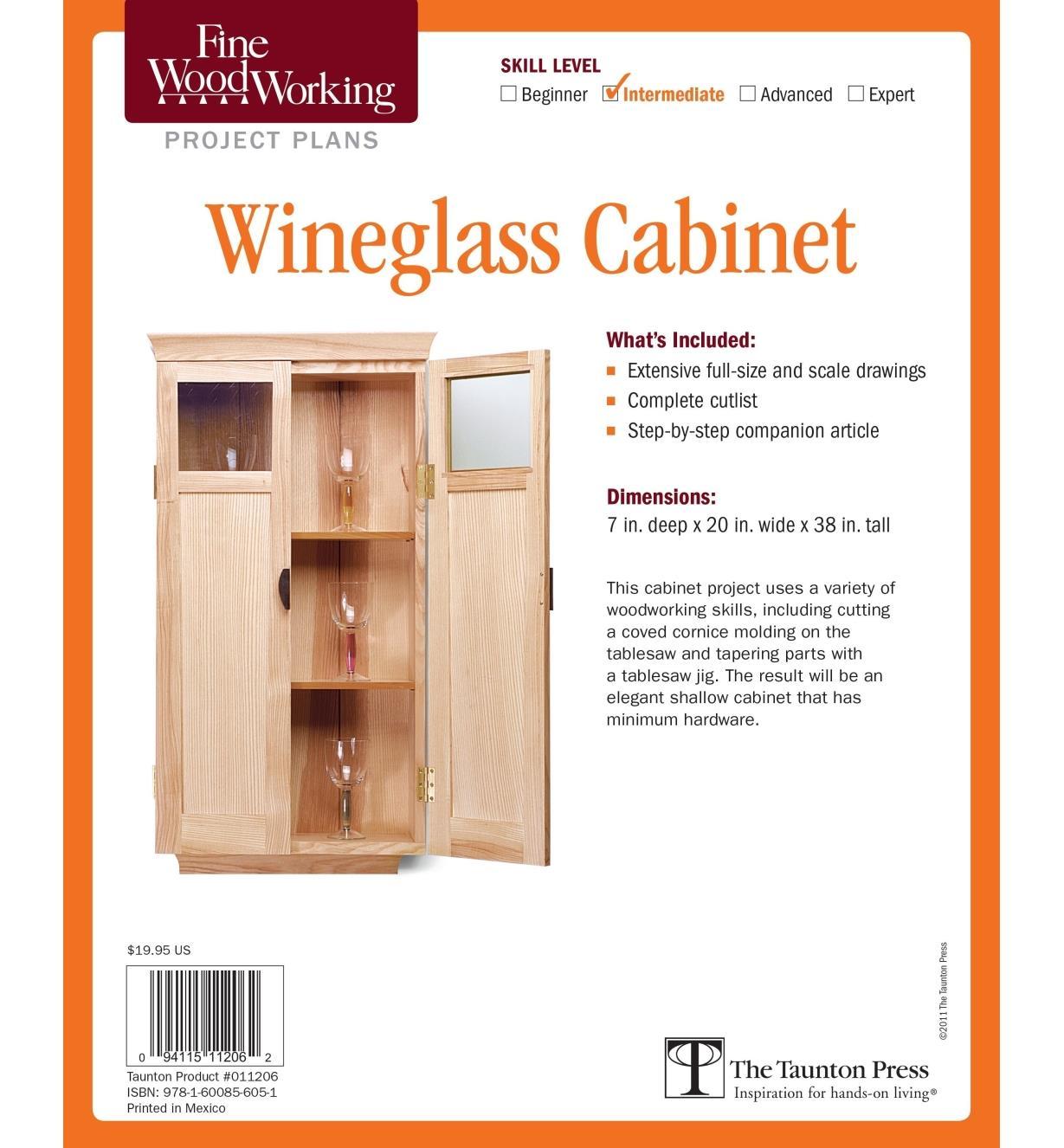 73L2543 - Wineglass Cabinet Plan
