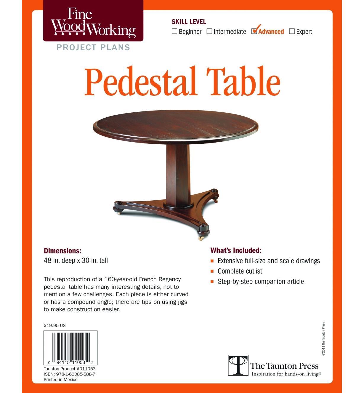 73L2544 - Pedestal Table Plan
