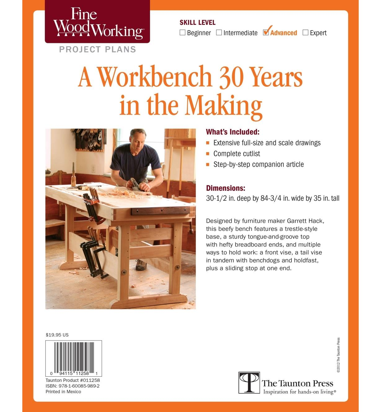 73L2545 - A Workbench 30 Years in the Making Plan