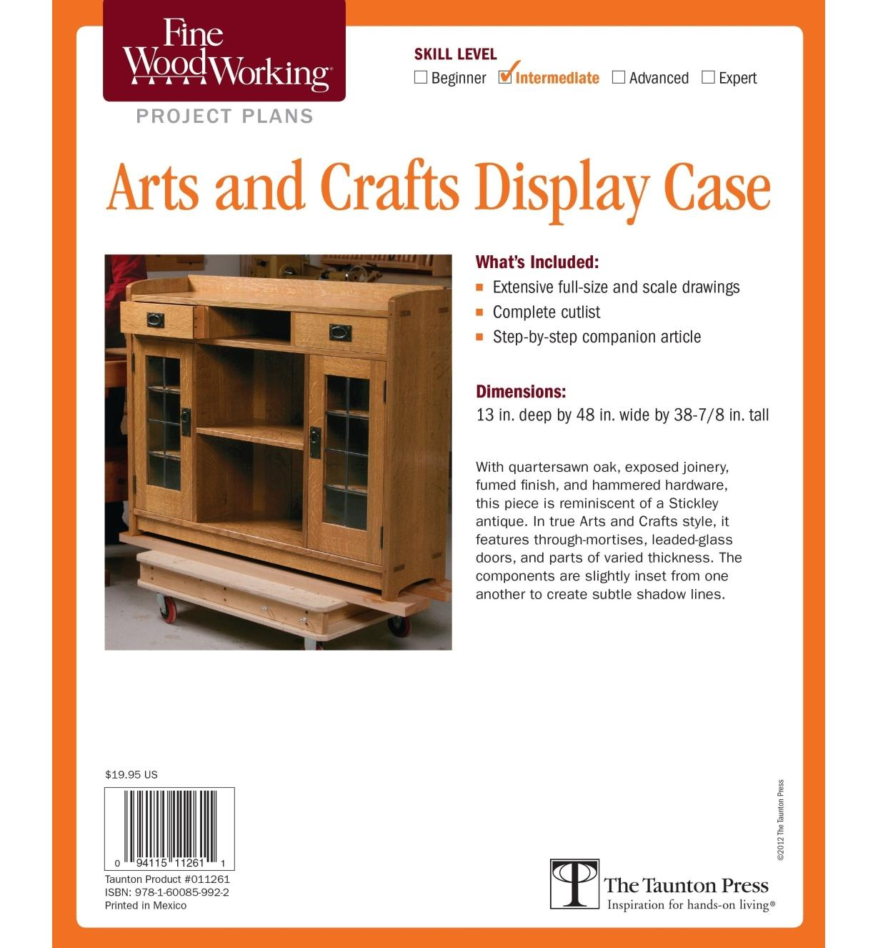 73L2547 - Arts and Crafts Display Case Plan