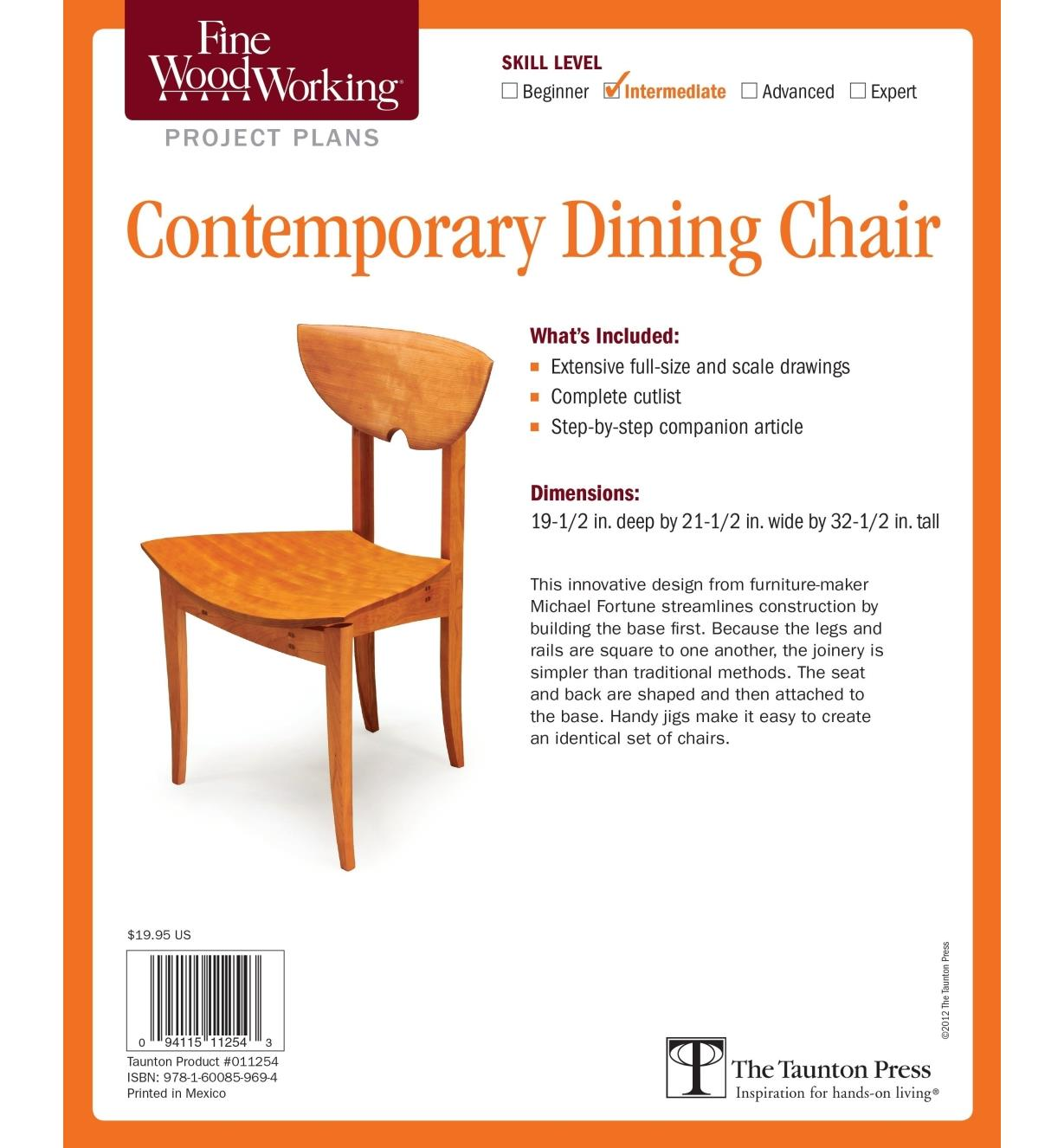 73L2548 - Contemporary Dining Chair Plan