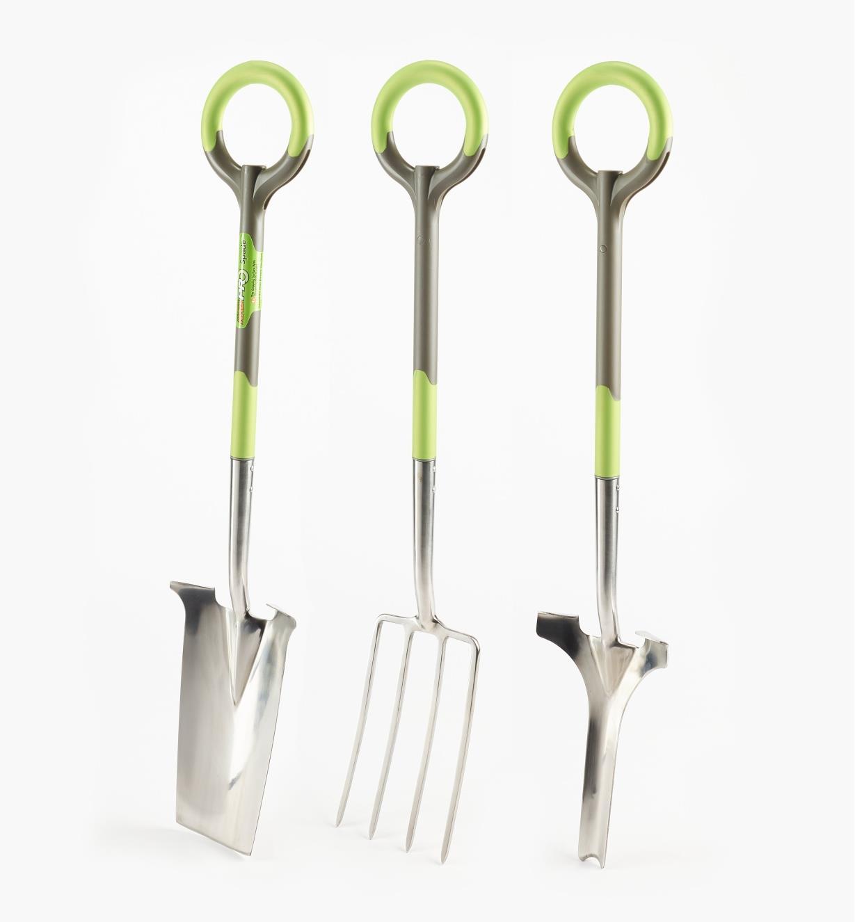 PG110 - Radius Ergonomic Stainless Steel Digging Spade, Fork & Weeder
