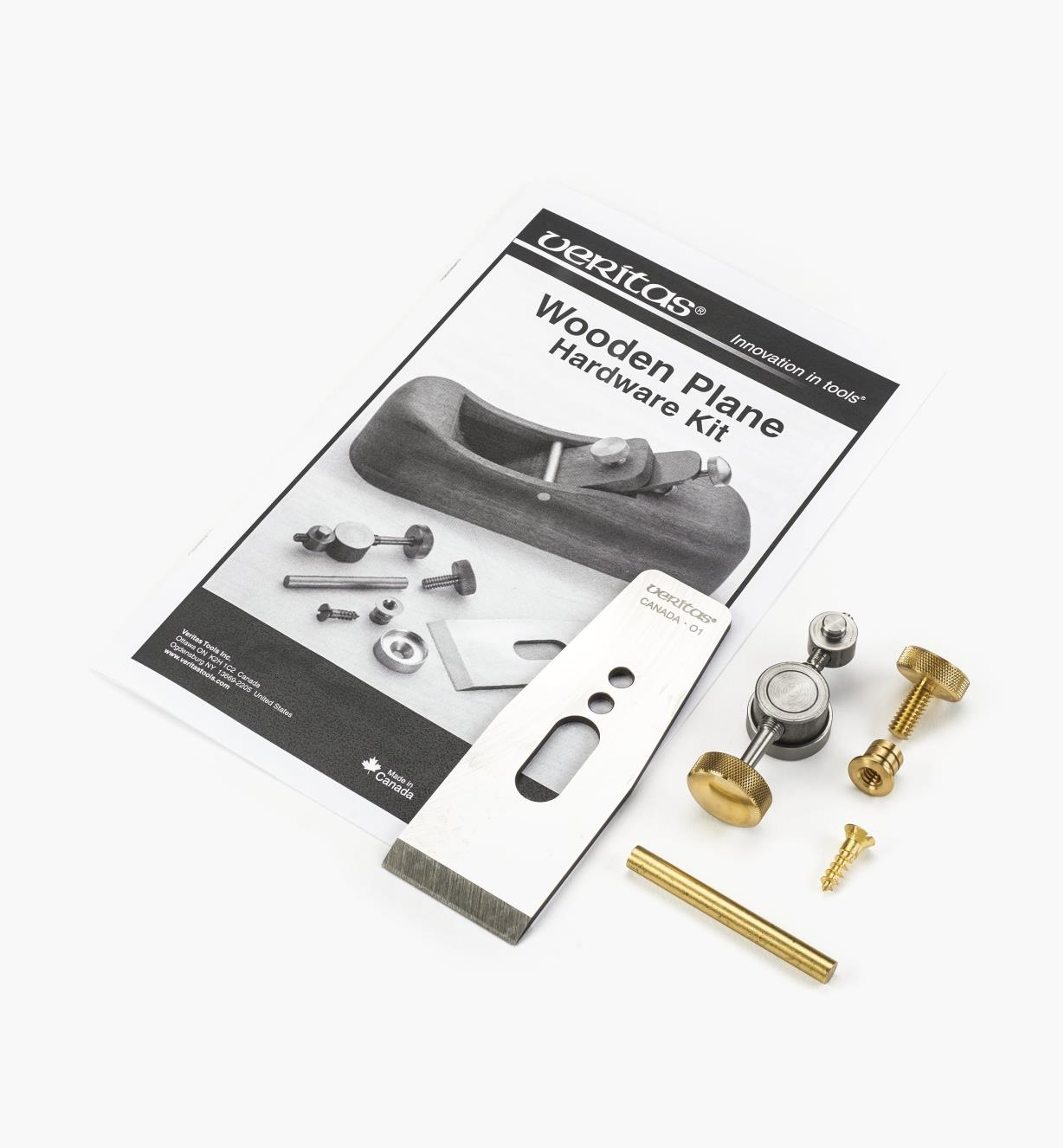 05P4041 - Veritas Wooden Plane Hardware Kit with A2 Blade