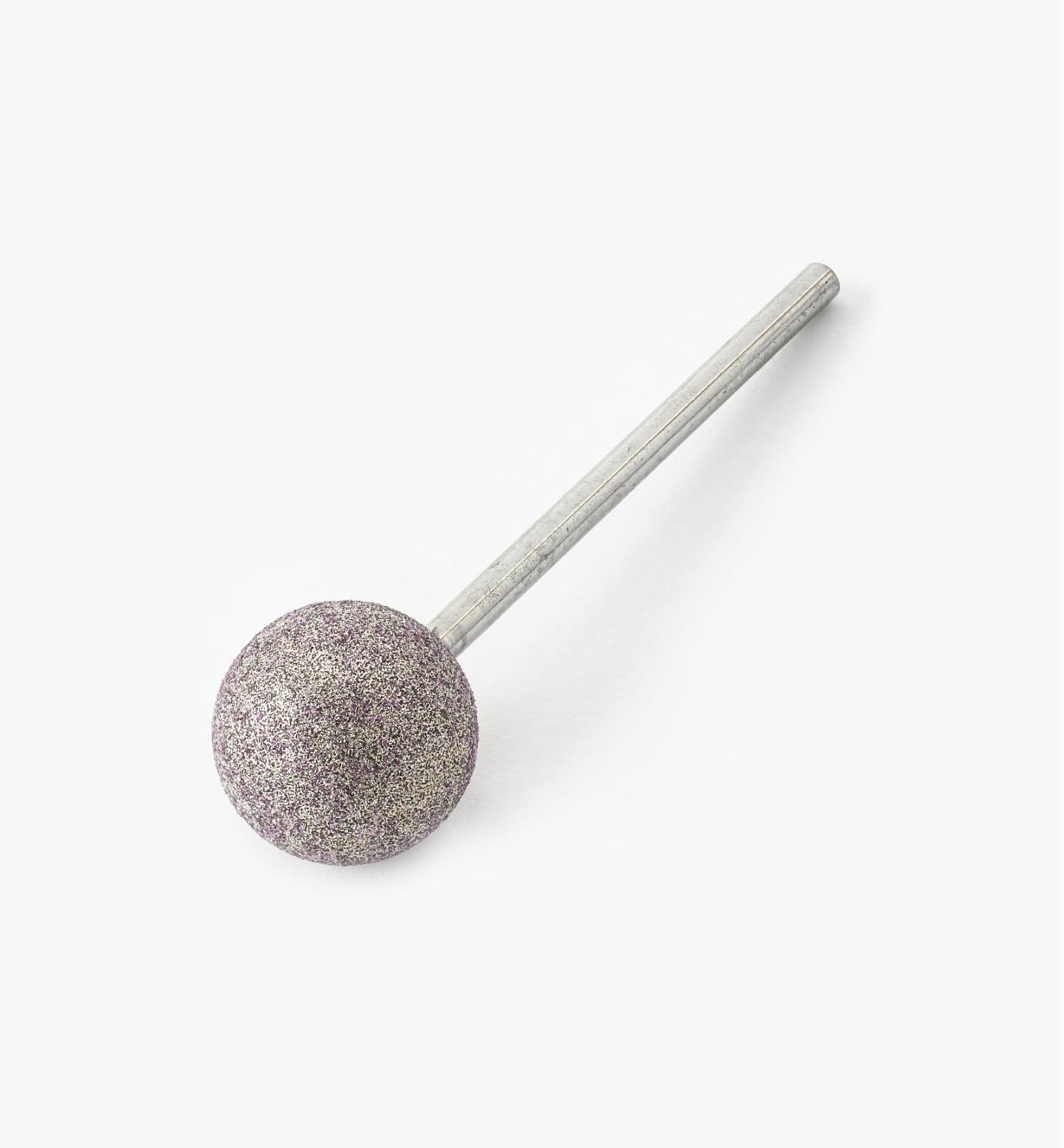 77J0831 - Meule de sculpture en corindon rose, sphère  – 1/2po de diamètre