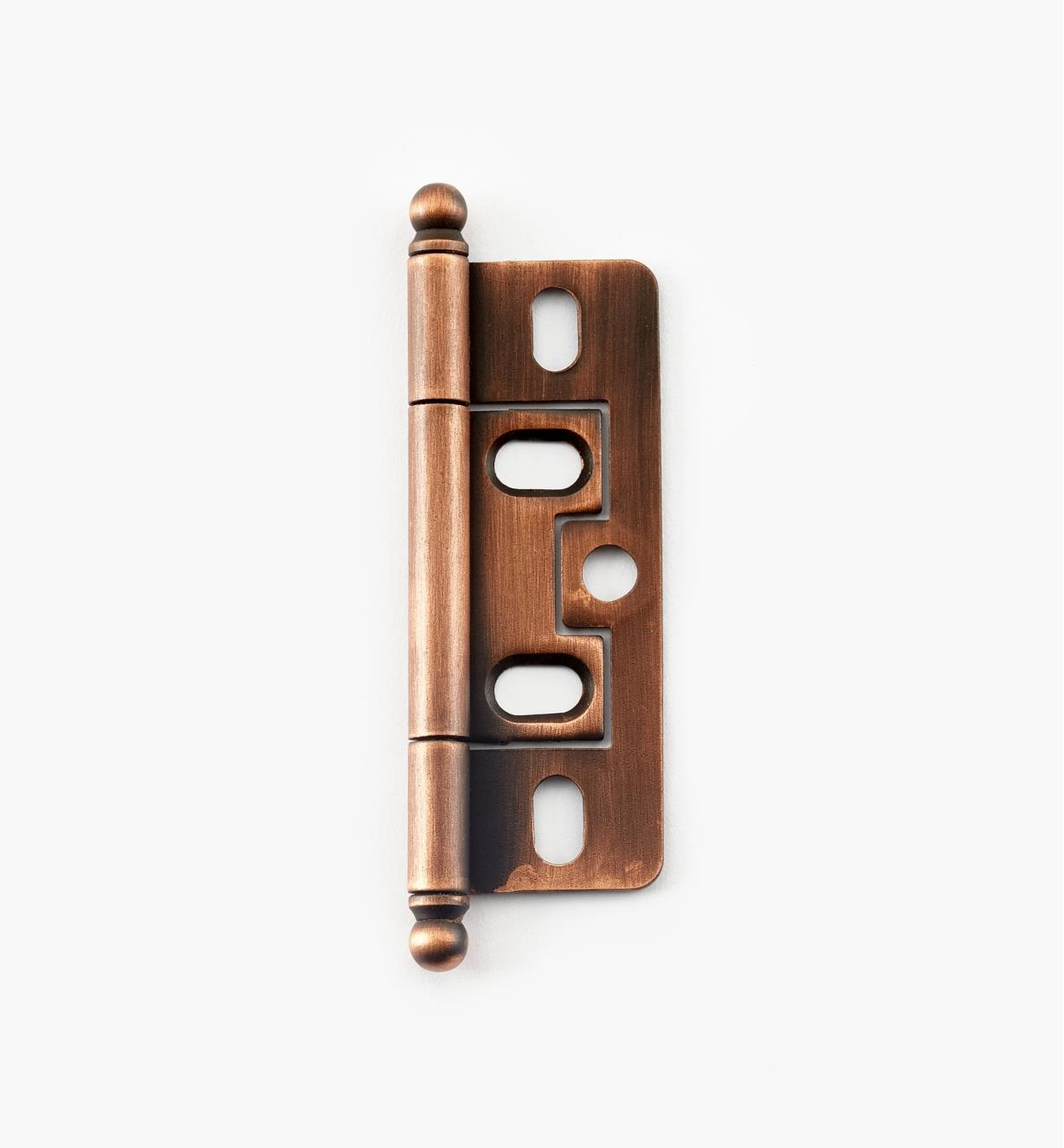 02H1272 - Weathered Copper No-Mortise Hinge/Ball