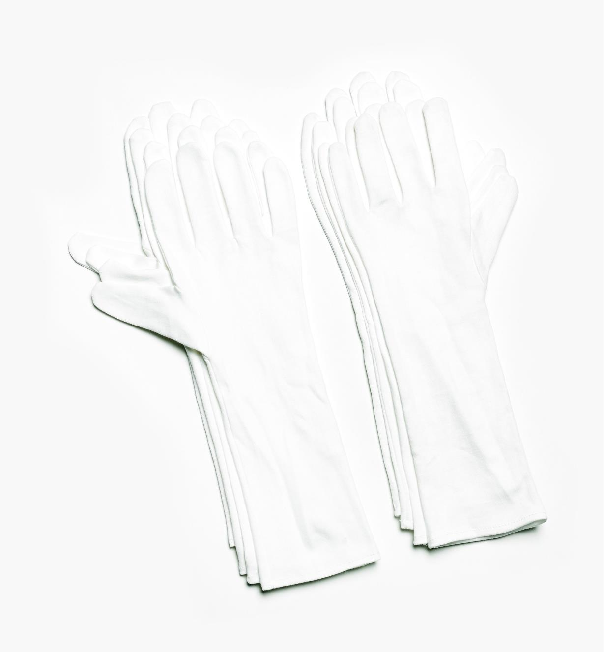 09A2060 - X-Large Extra-Long Cotton Glove Liners (size 10), pkg. of 8