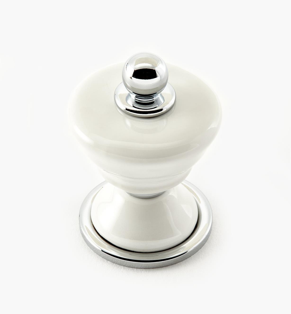 99W9651 - Chrome Brainerd Ceramic Alexandria Knobs, each