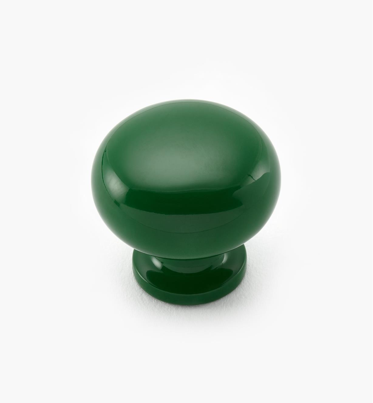 99W9663 - Epoxy-Painted Green Knob, each