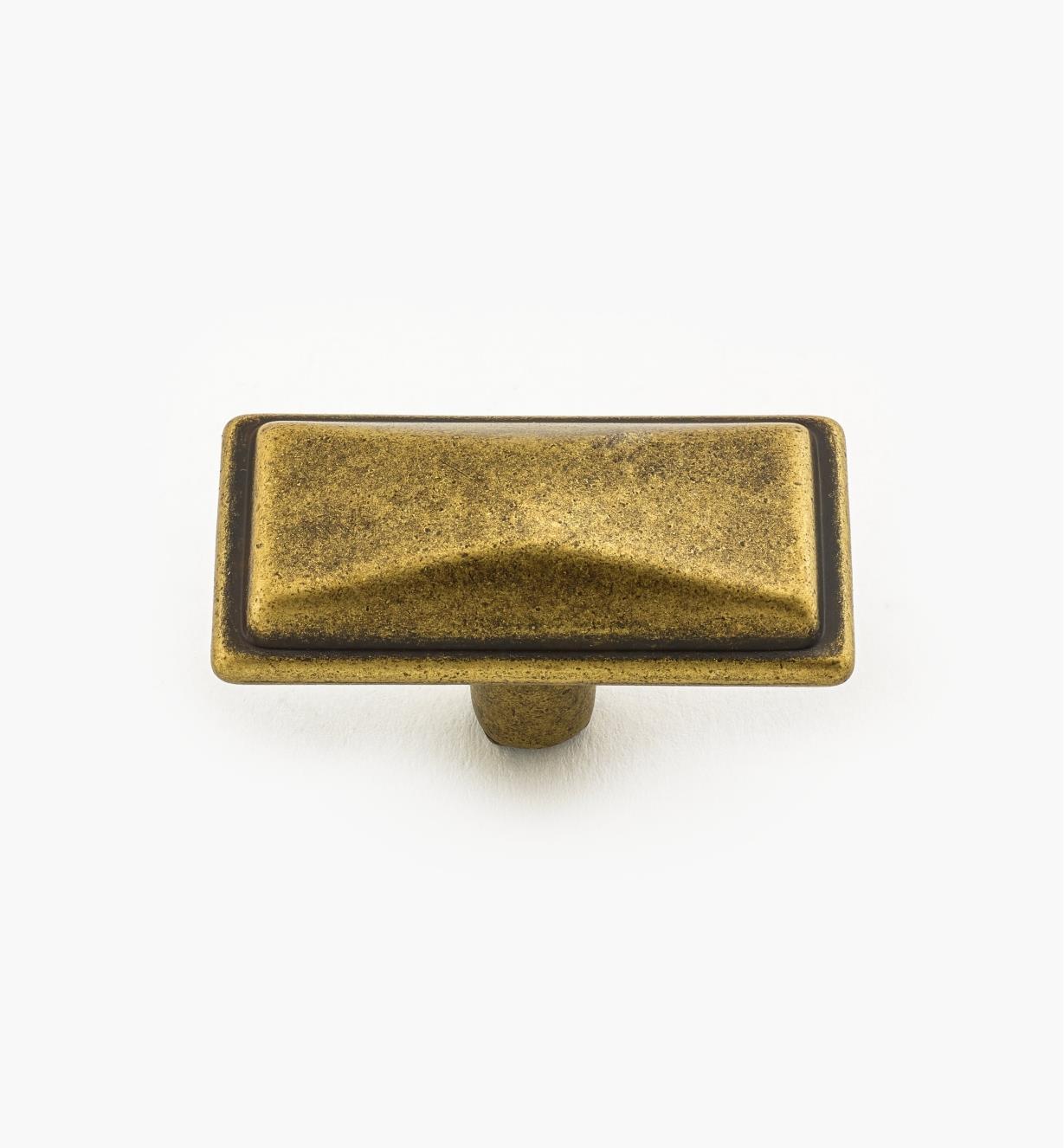 00A7260 - Bouton de 40mm x 21mm, série Verona, fini laiton antique