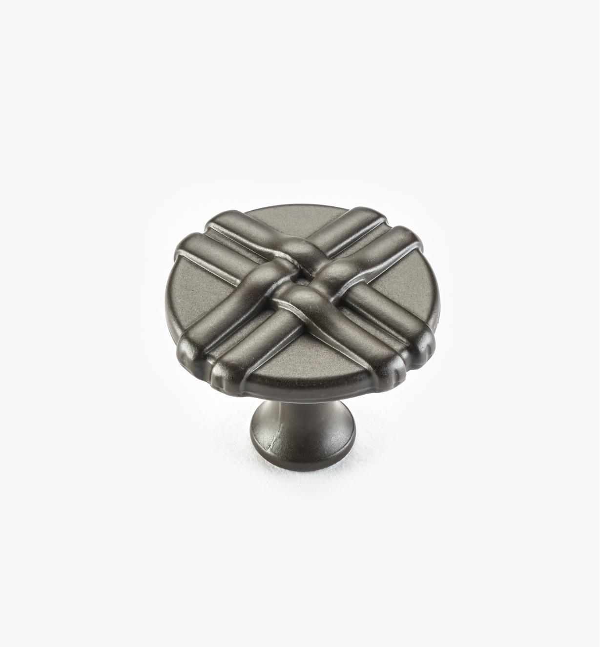 01W0636 - Bouton rubané de 34mm, fini bronze huilé