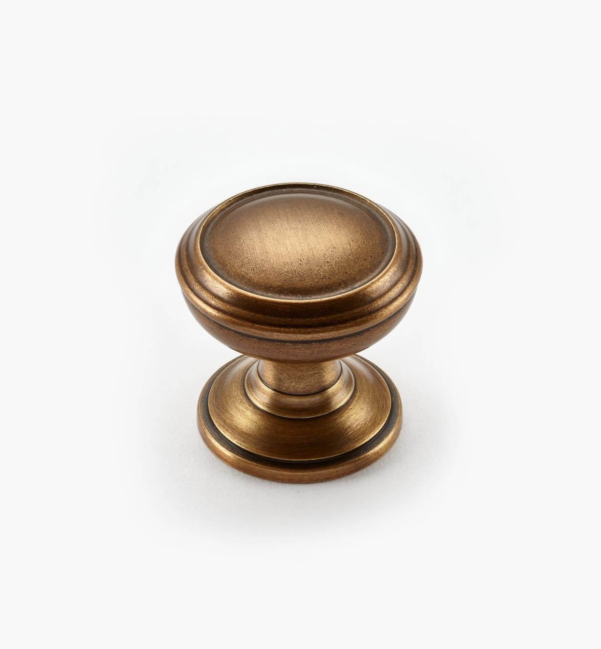 "02A1692 - Revitalize Gilded Bronze 1 1/4"" Plain Round Knob, each"
