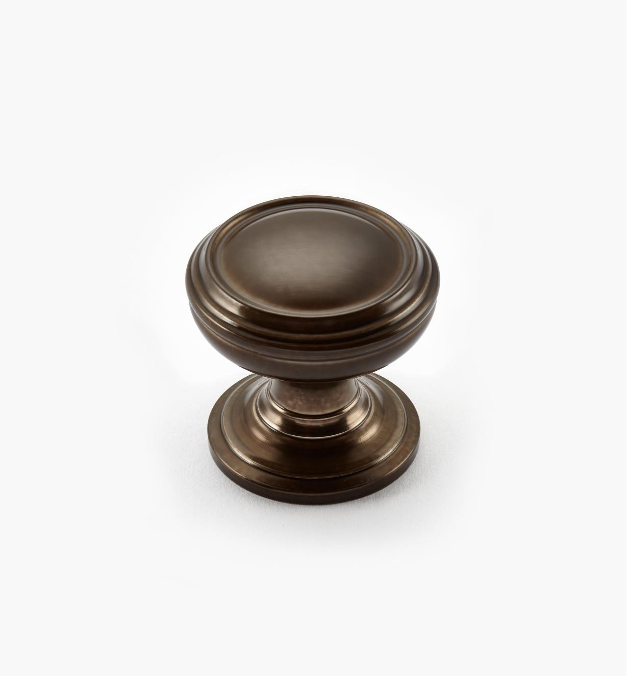"02A2222 - Revitalize Caramel Bronze 1 1/4"" Plain Round Knob, each"