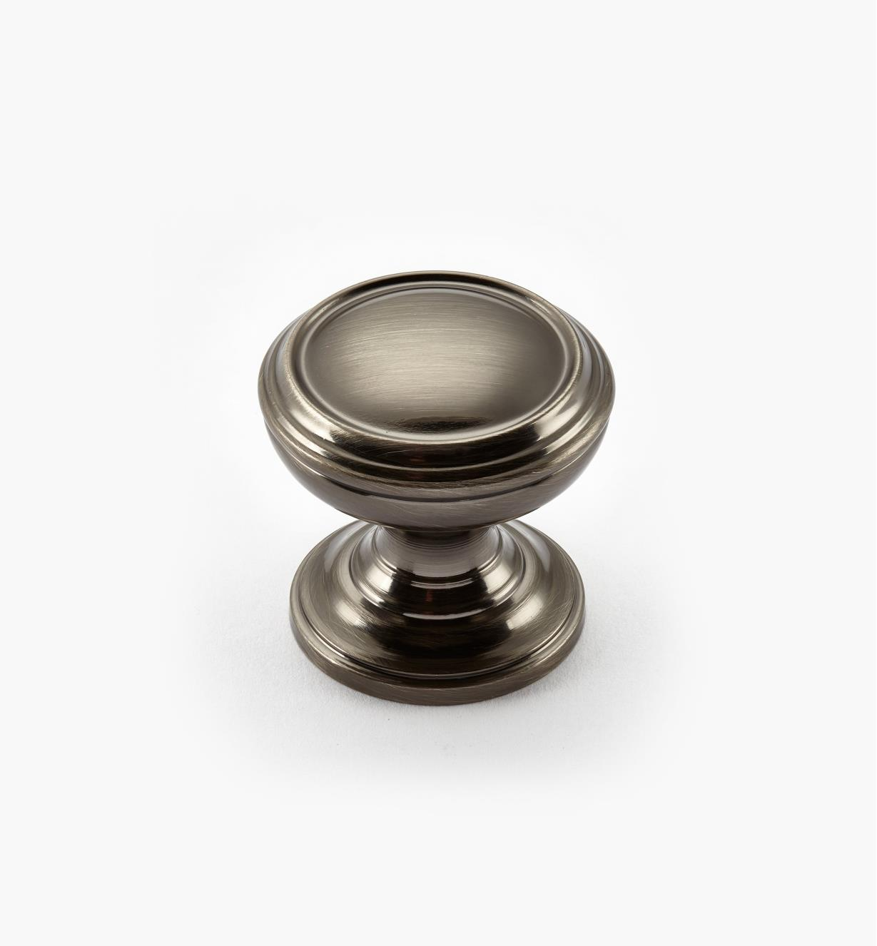 "02A2232 - Revitalize Gunmetal 1 1/4"" Plain Round Knob, each"