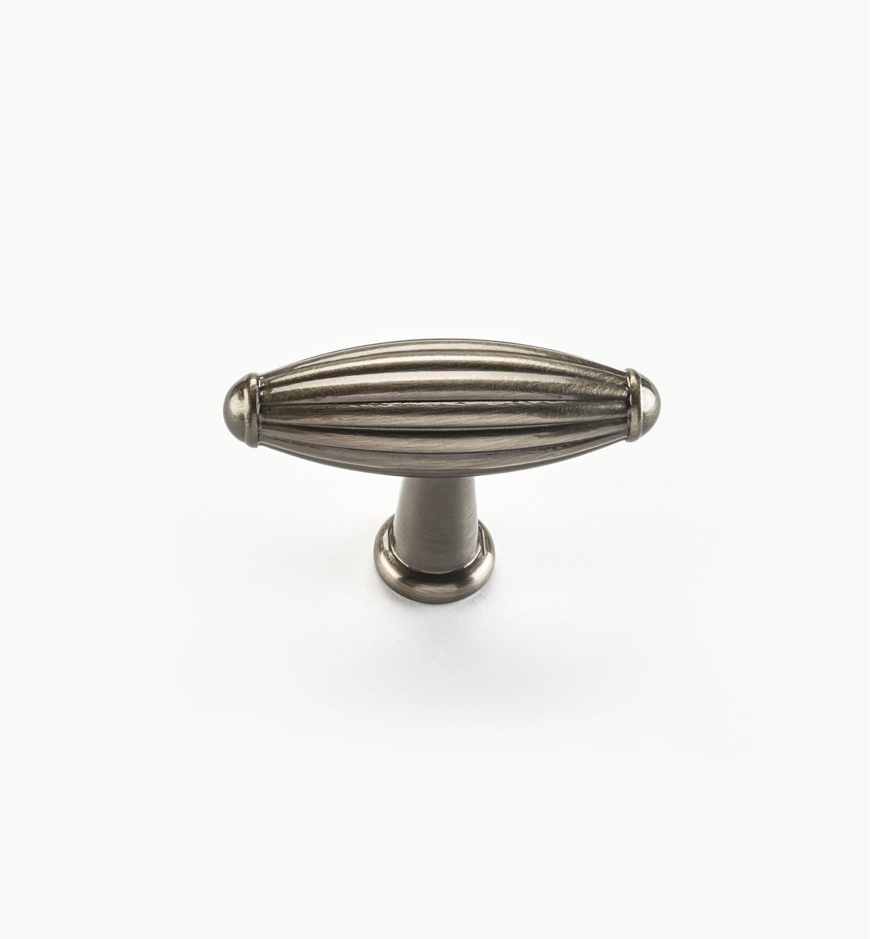 02W4431 - Bouton de 21/4po x 11/2po, série Olive, fini nickel antique