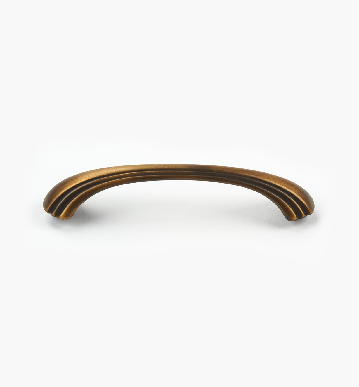 """03W2861 - Transitional 5"""" × 3/8"""" Antique Brass Pull (4 3/8"""")"""