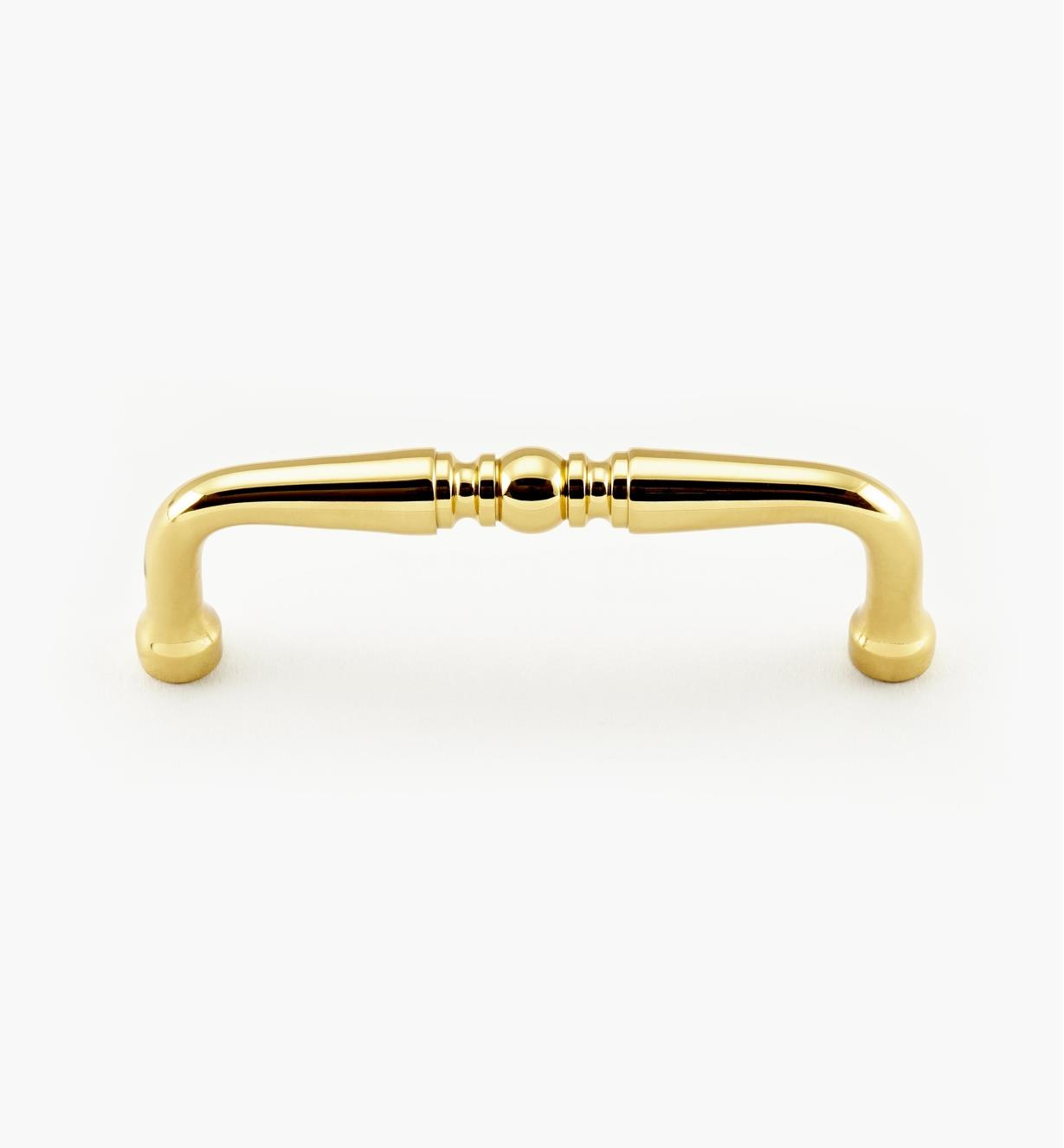 "99W9677 - 3"" Polished-Brass Accent Pull, ea."
