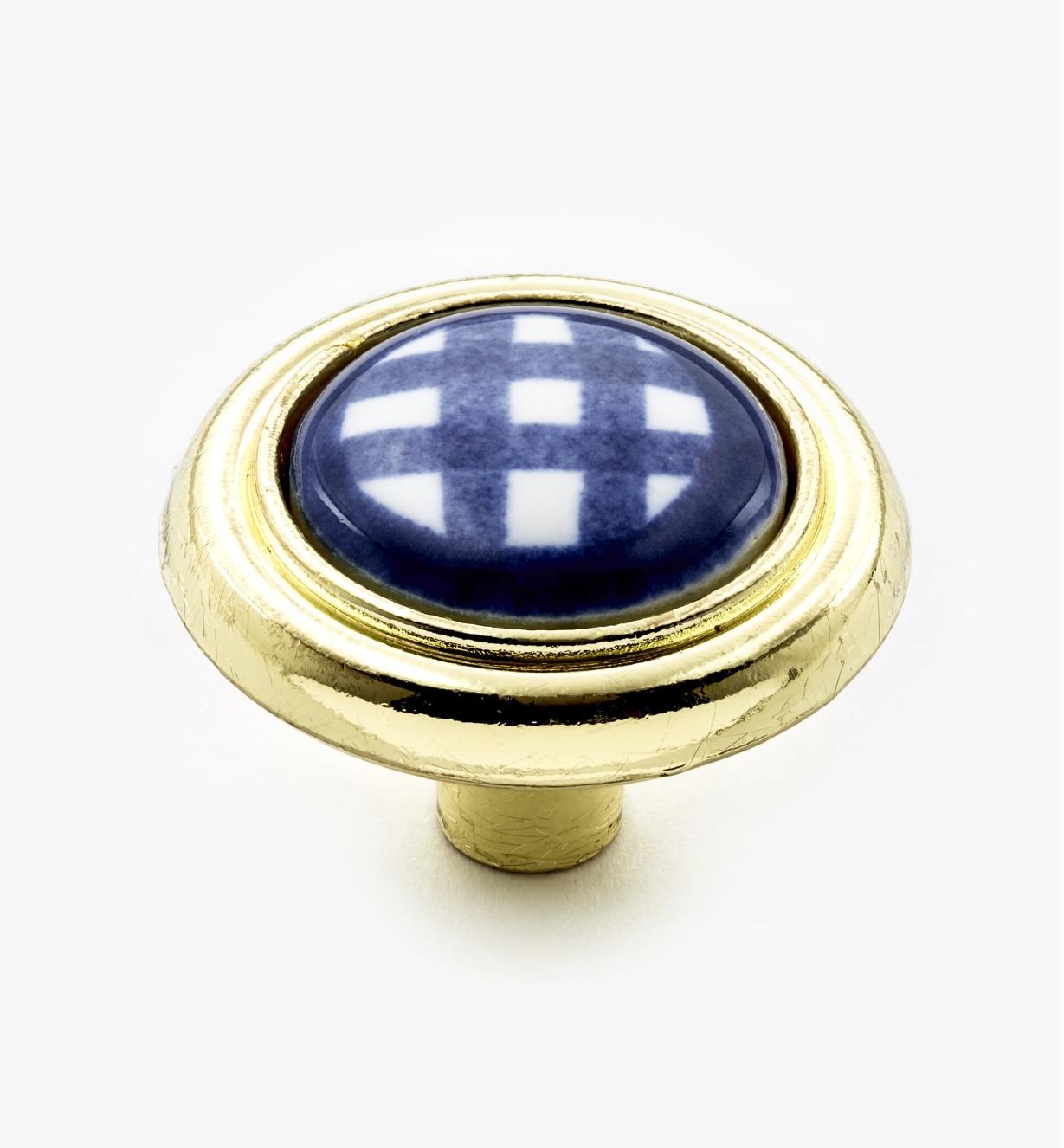 """00W5234 - 1 1/4"""" Blue Knob"""