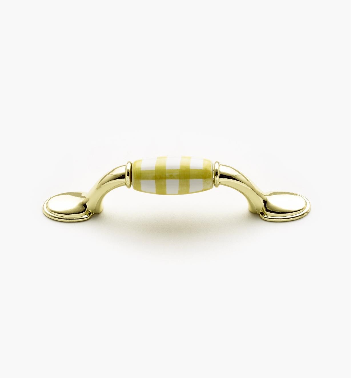 00W5242 - Poignée zinc-céramique standard, fini laiton, jaune, 76 mm