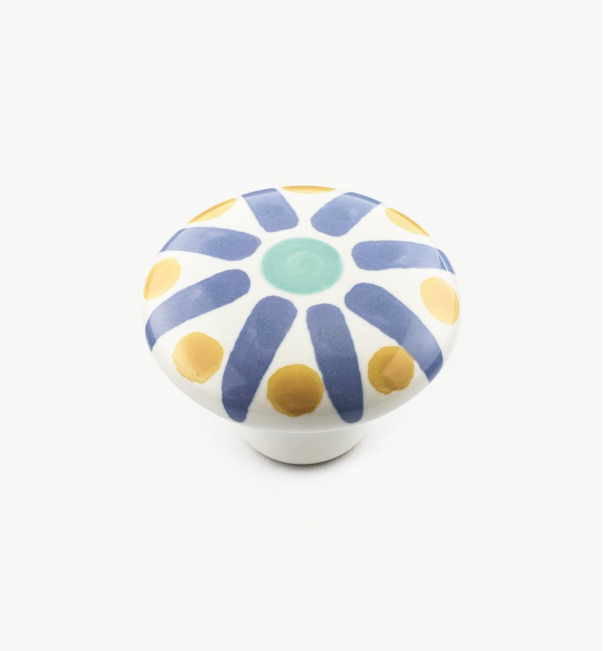 01W3101 - Blue Sunburst Knob