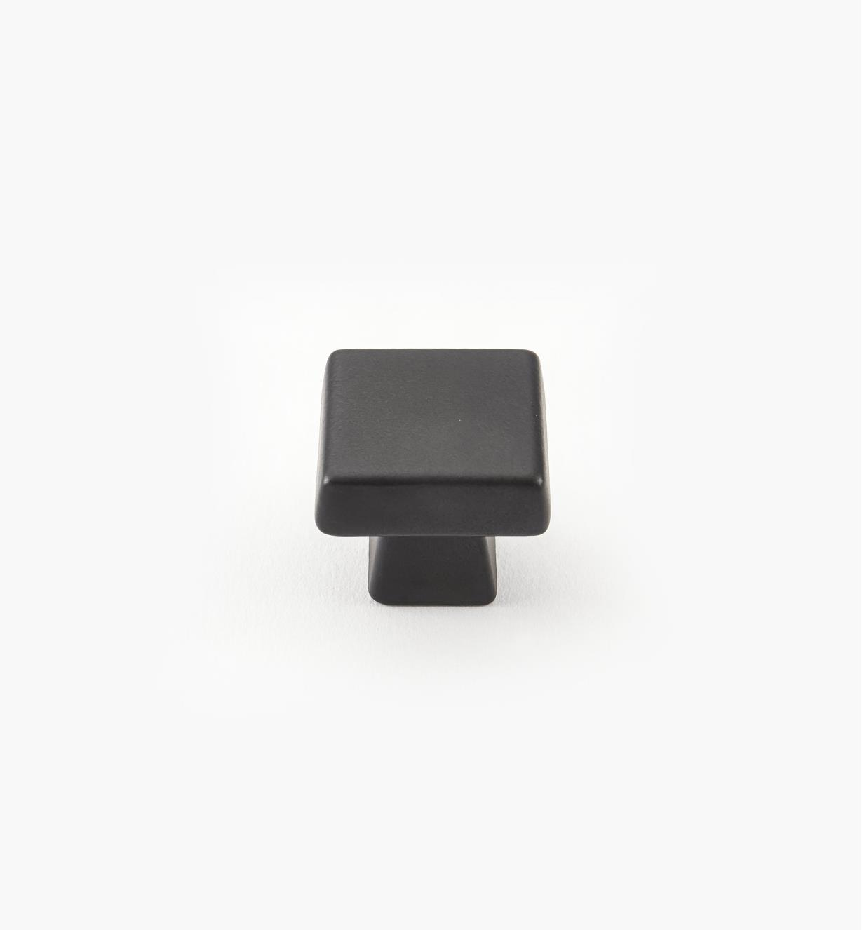 "02A1761 - Blackrock Black Bronze Square Knob, 1 1/8"" x 1"", each"