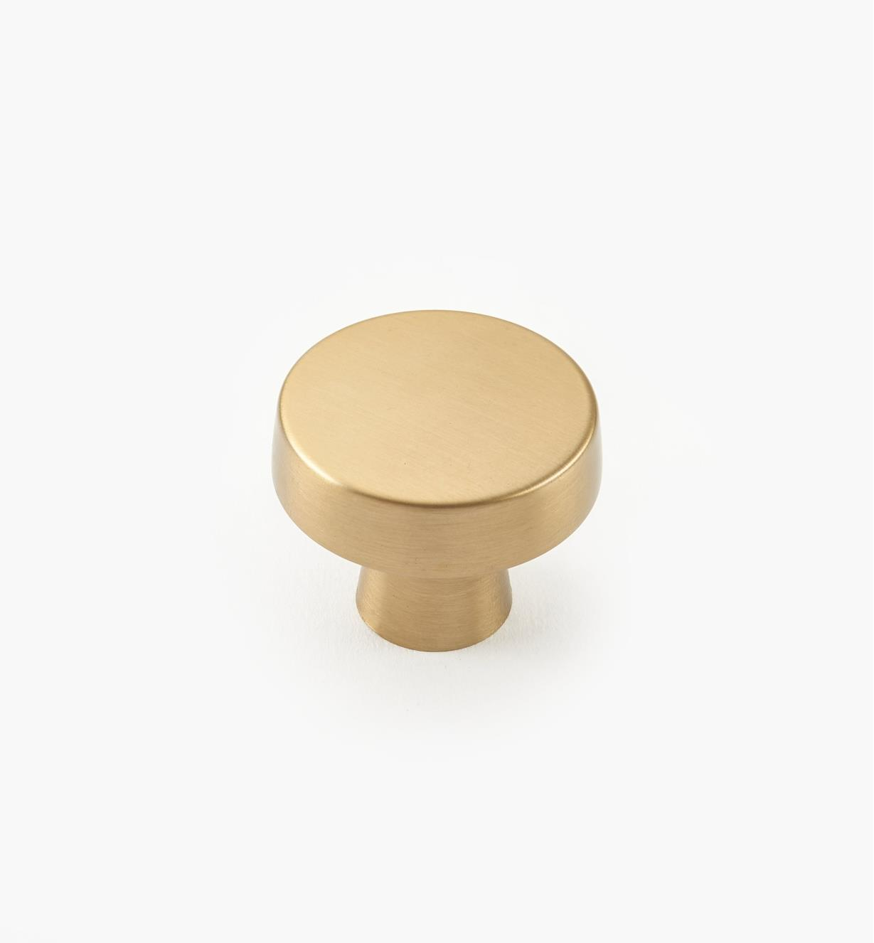 "02A1782 - Blackrock Golden Champagne 1 5/8"" x 1 3/8"" Round Knob, each"