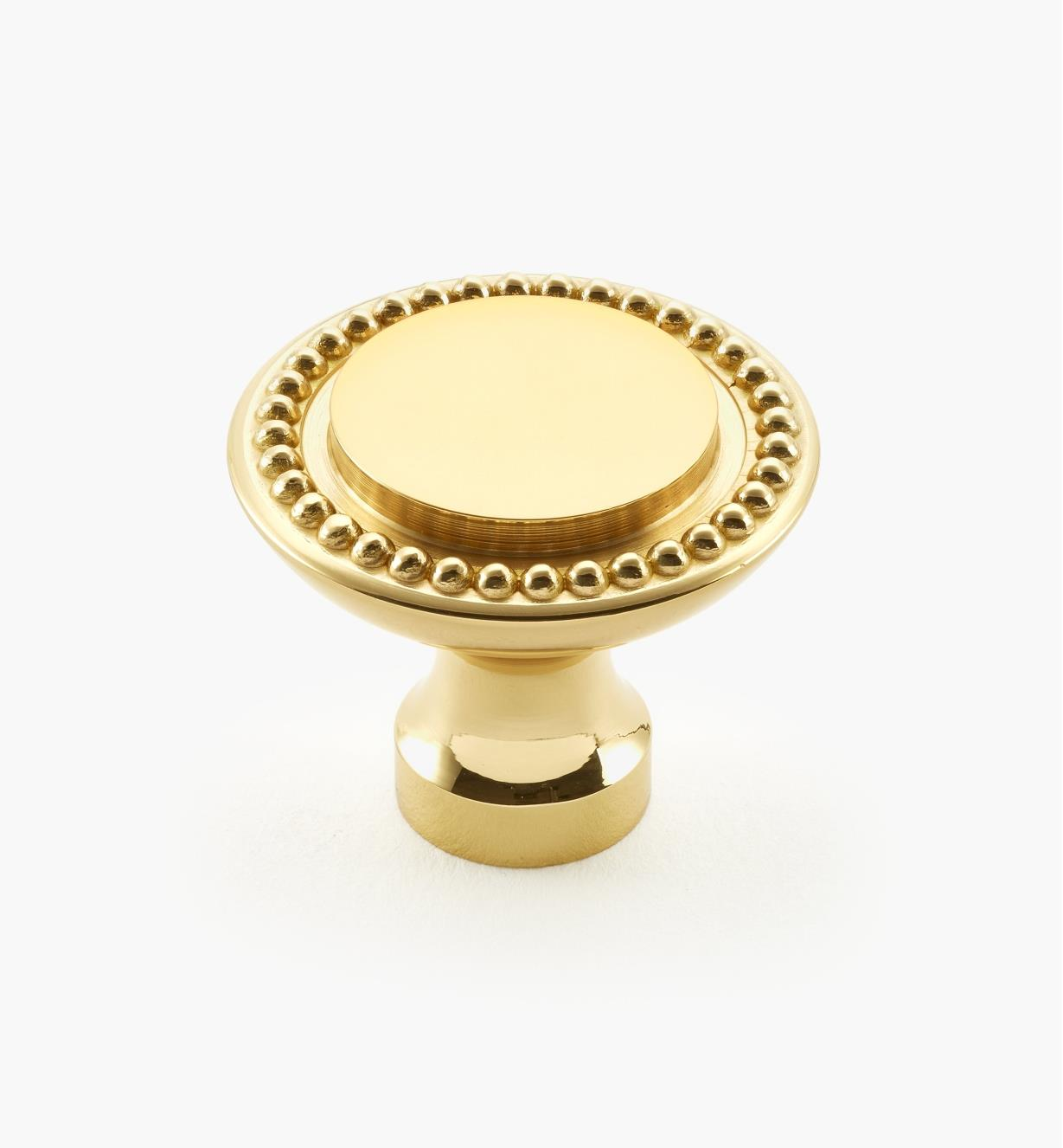 "03W1309 - Belwith Brass, 1 1/4"" × 1"" Manor House Knob, ea."