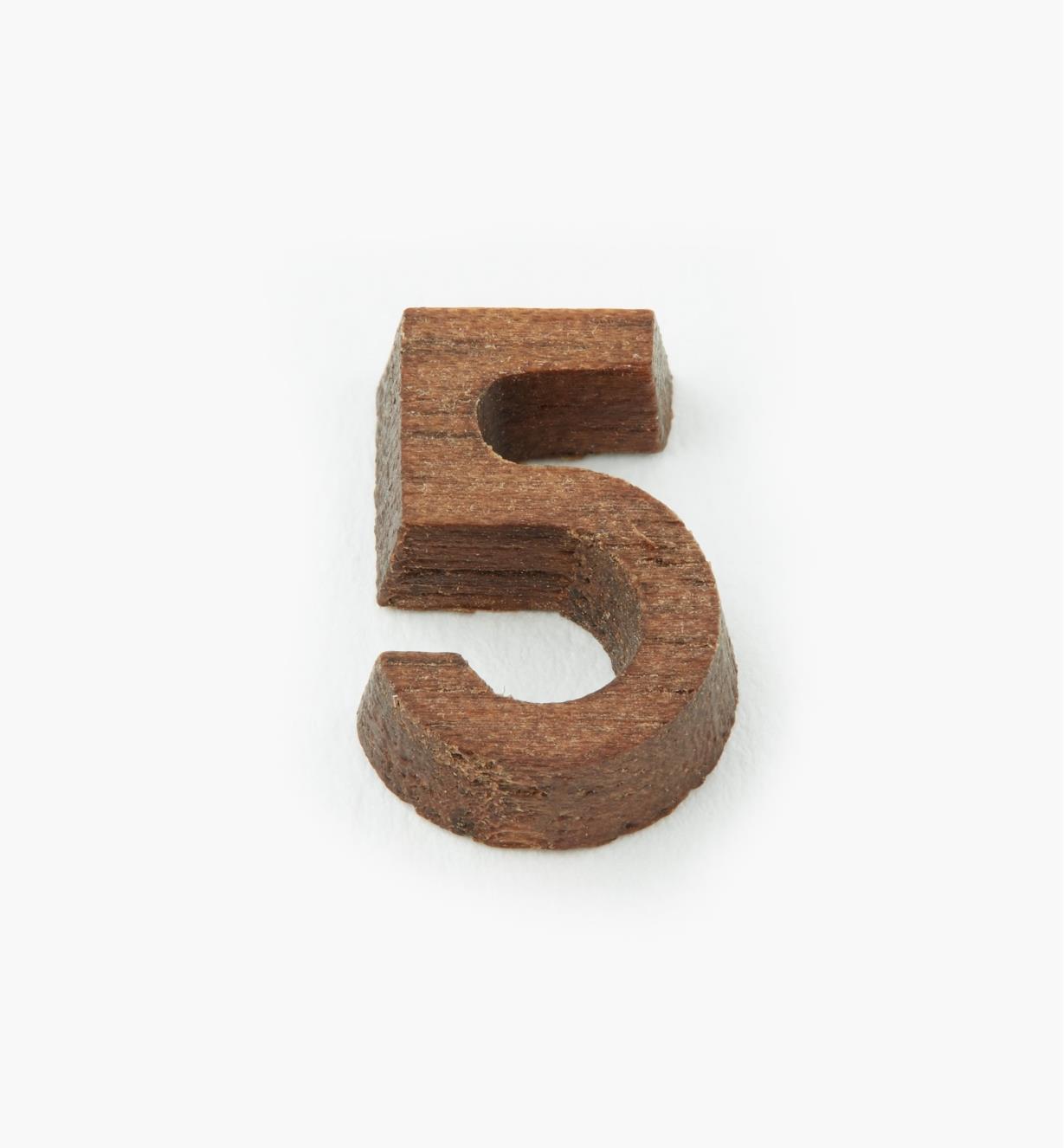 """41K055 - 1/2"""" Number-5"""