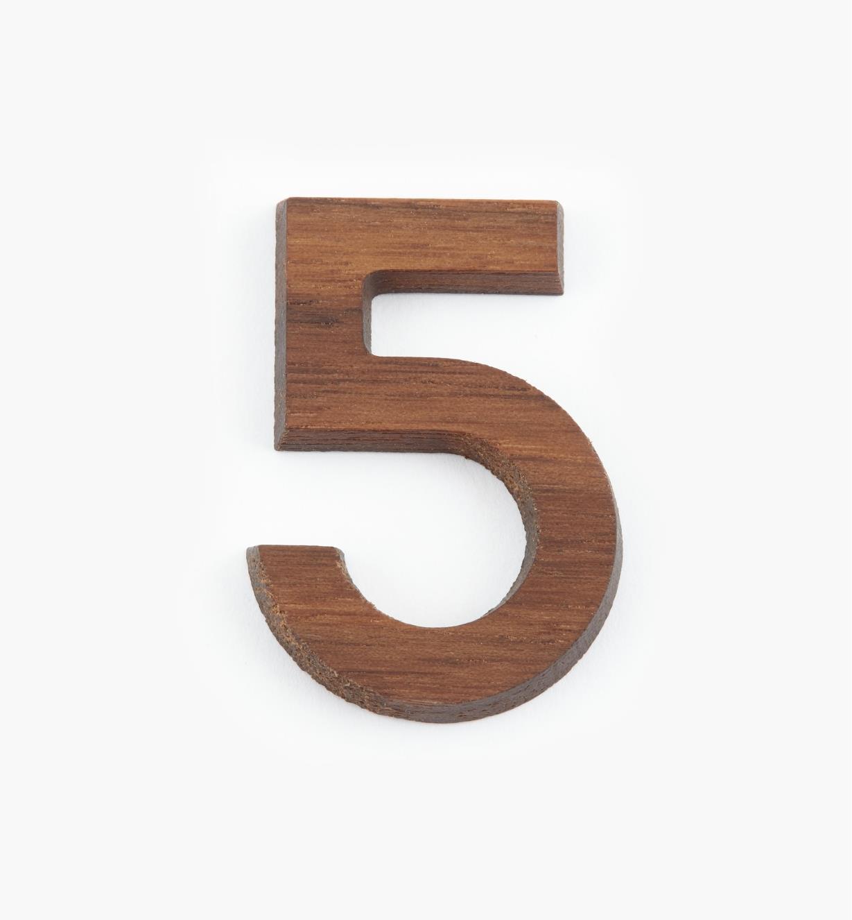 """41K085 - 1 5/8"""" Number-5"""