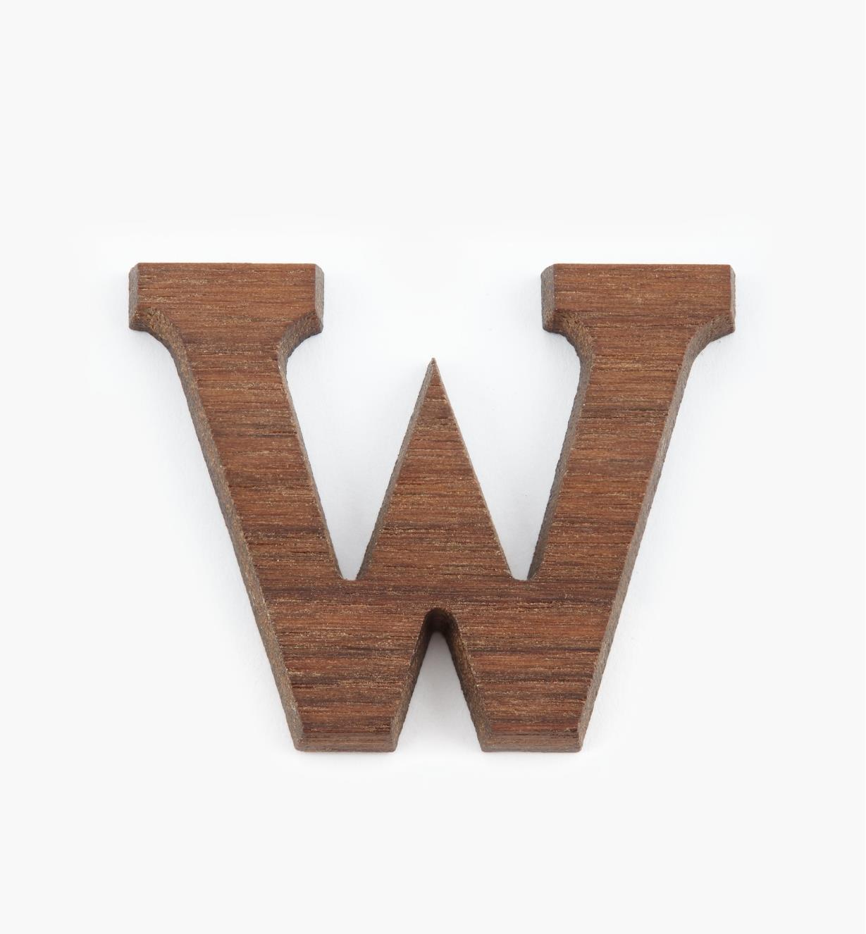 """41K08W - 1 5/8"""" Letter-W"""