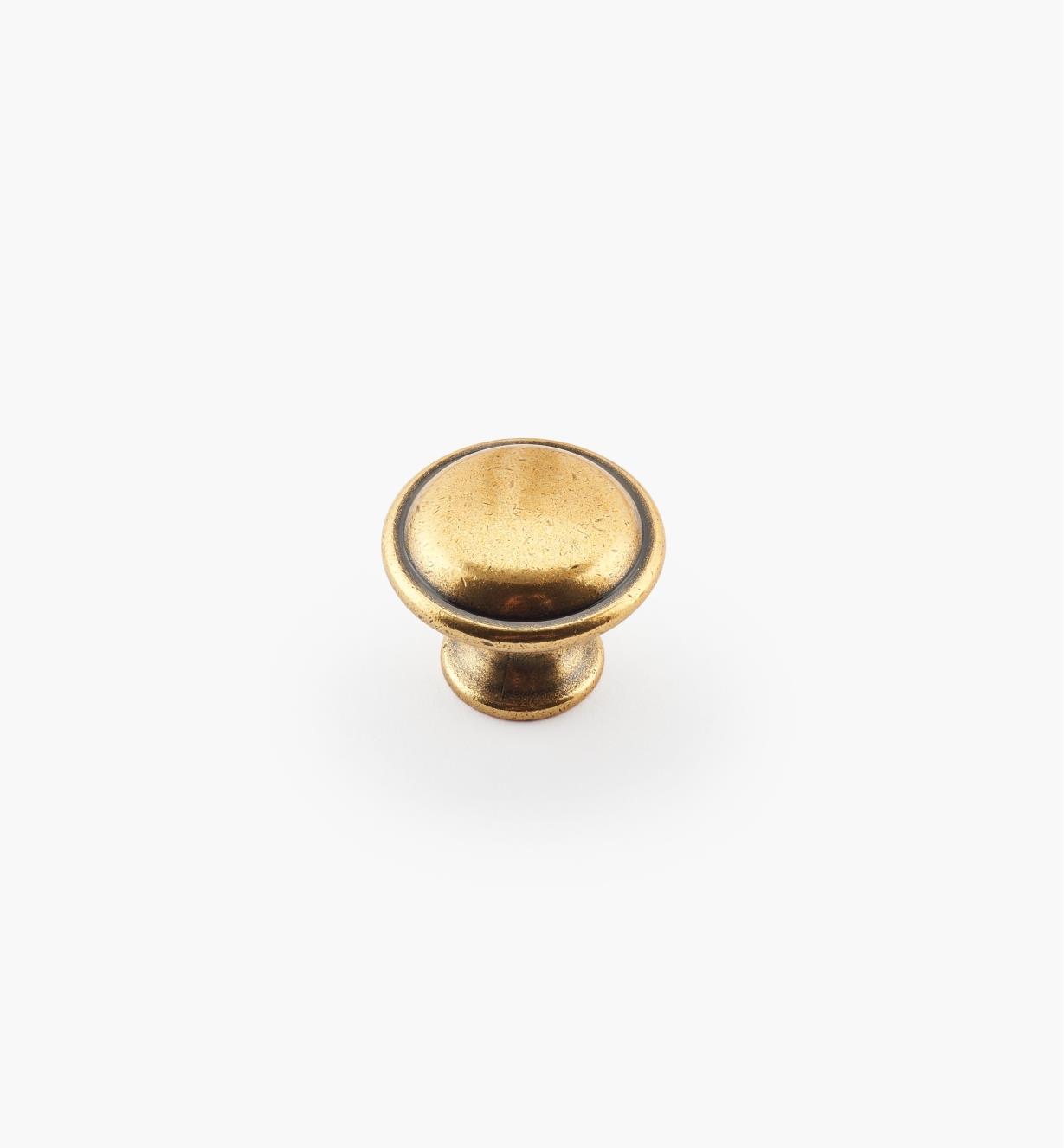 01A2074 - Bouton de 25 mm x 20mm, sérieContemporaineII, finibronzebruni