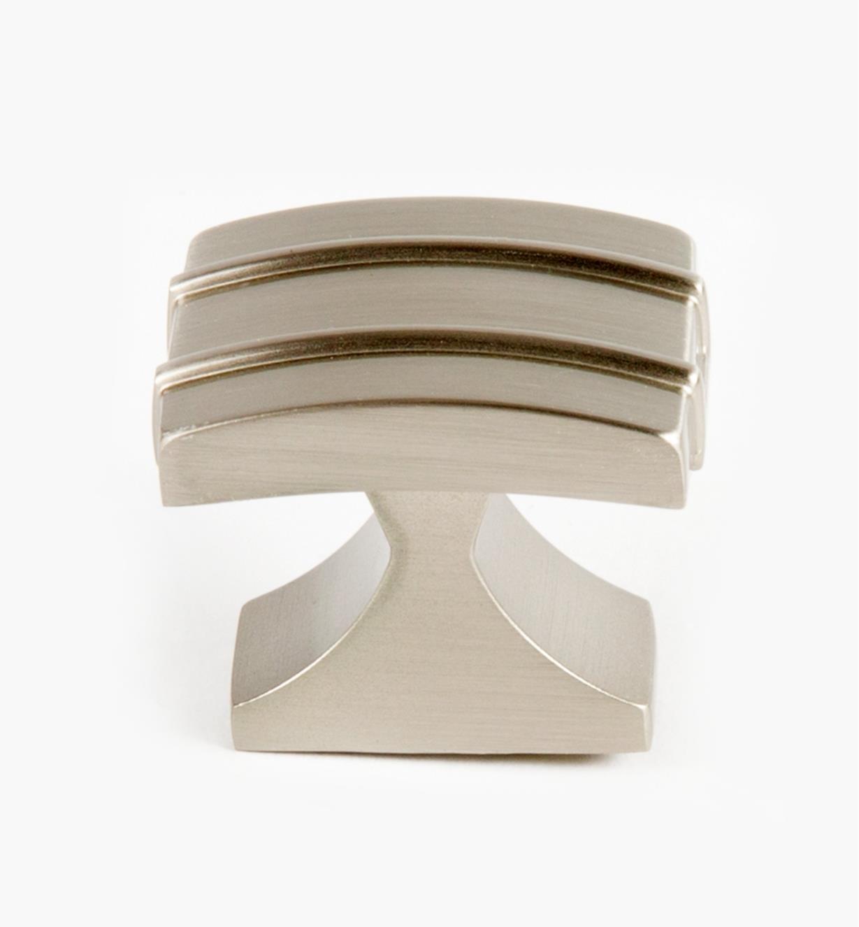 02A1440 - Petit bouton Davenport, 11/4po x 1po, nickel satiné, l'unité