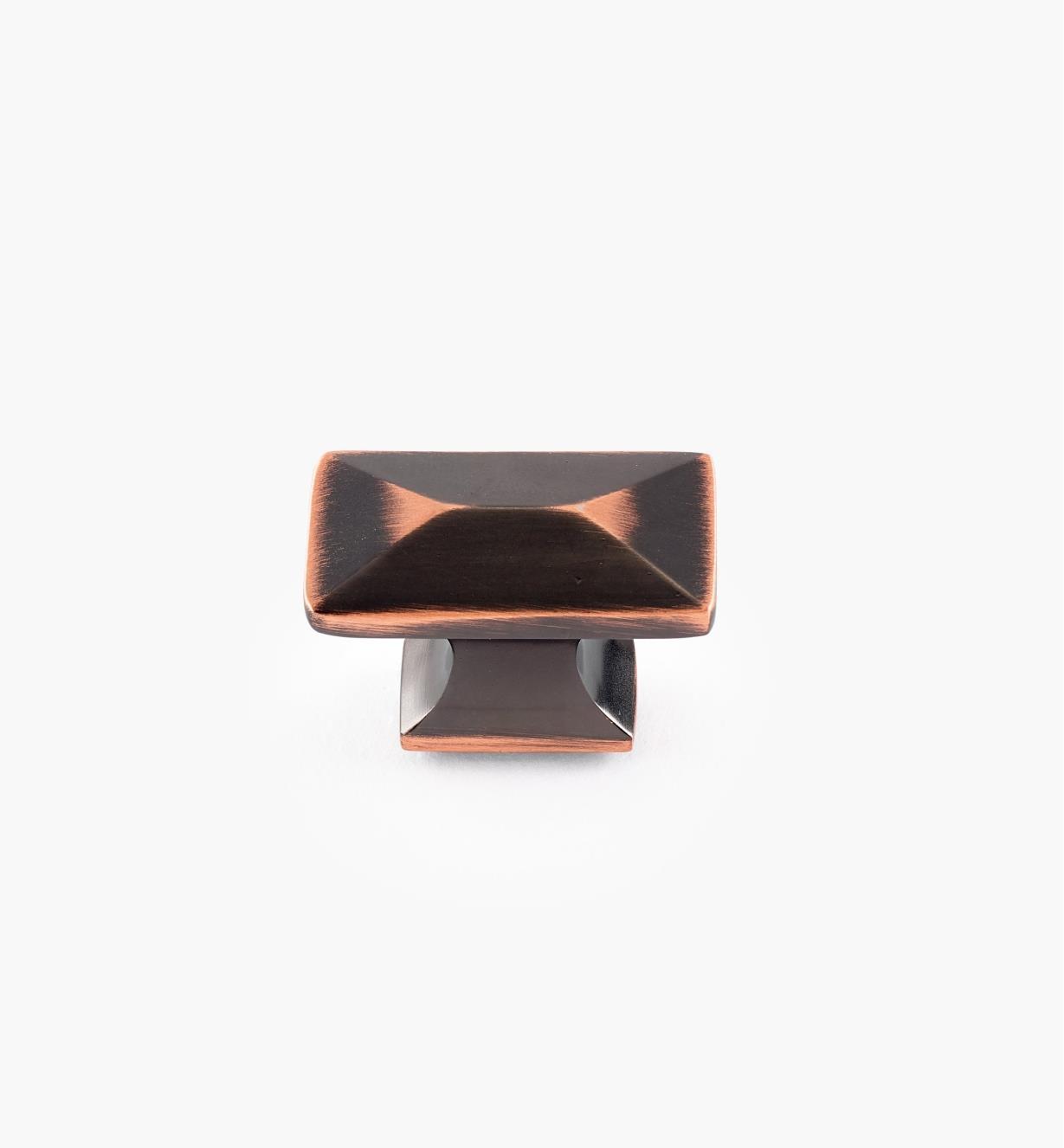 02W3531 - Bouton de 1 1/4 po x 11/16 po, série Bungalow, fini bronze cuivré