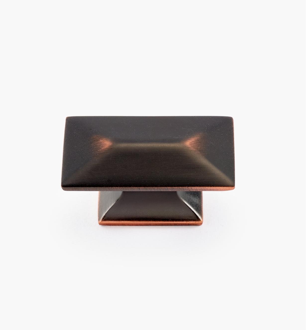 02W3532 - Bouton de 1 3/4 po x 15/16 po, série Bungalow, fini bronze cuivré