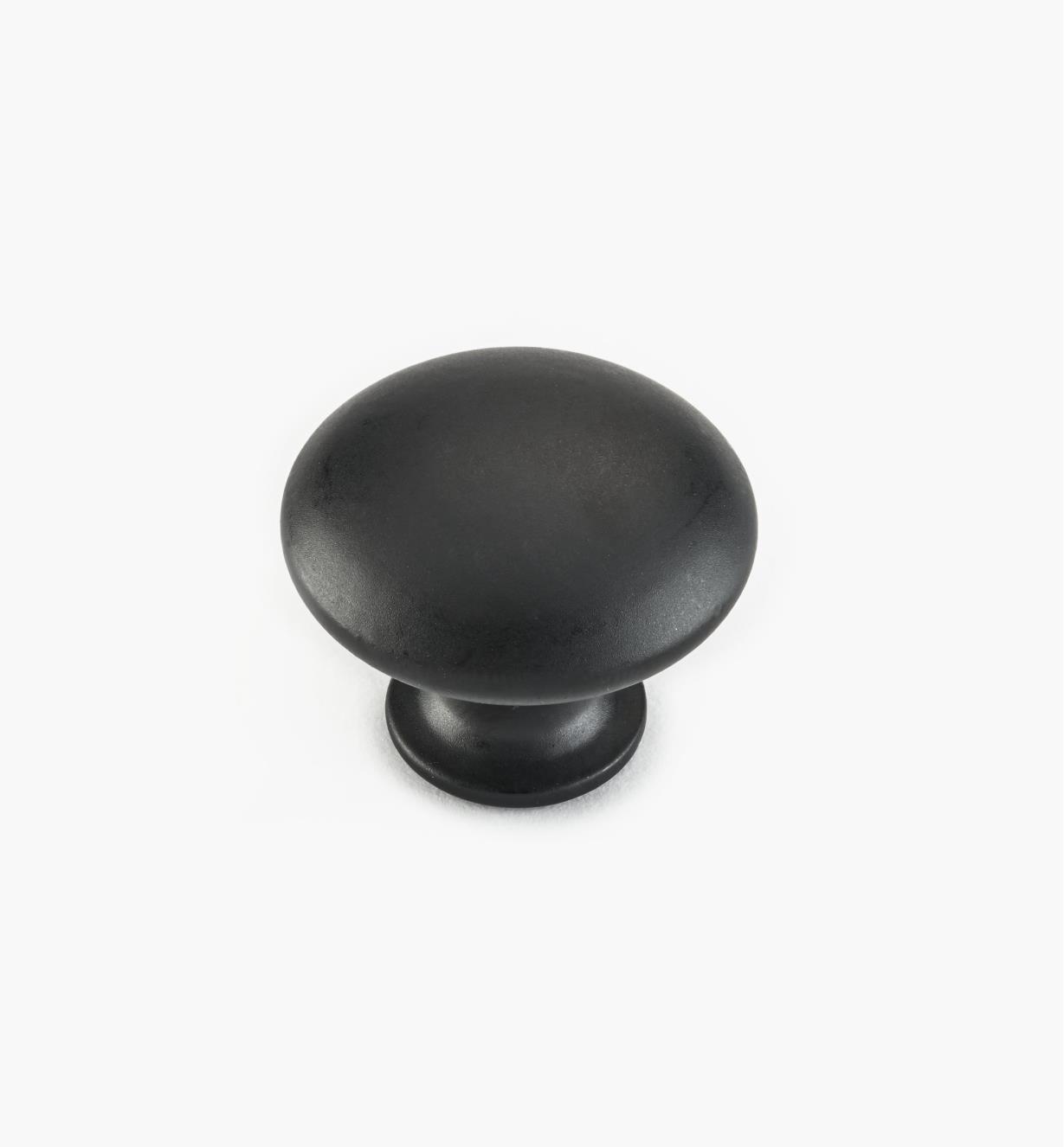 "02W4306 - 1 1/8"" x 7/8"" Black Knob"
