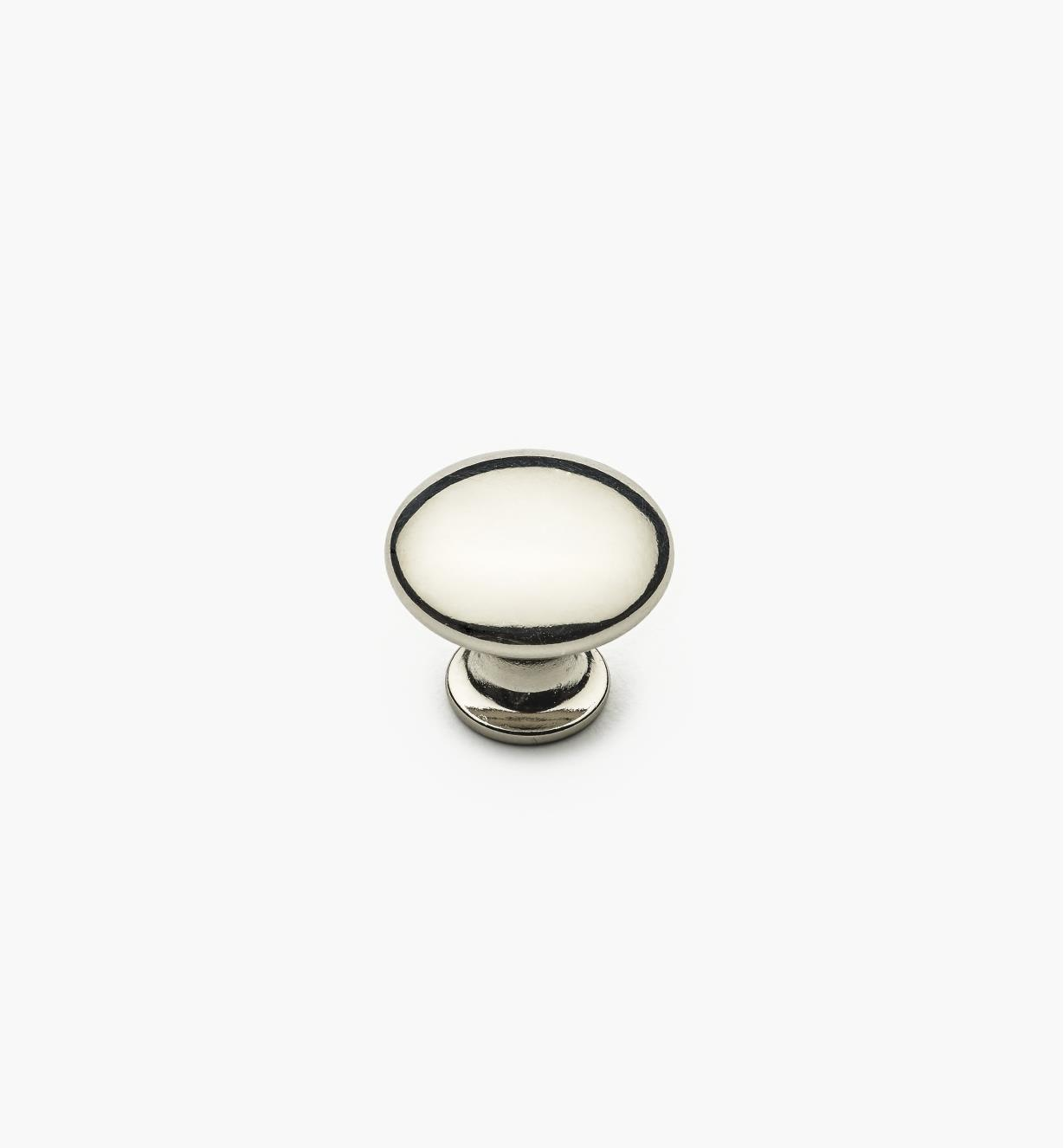 "02W4343 - 3/4"" x 5/8"" Polished Nickel Knob"