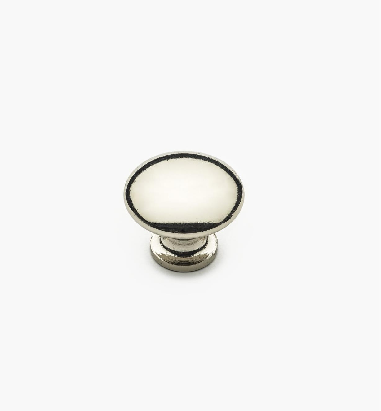 "02W4344 - 7/8"" x 3/4"" Polished Nickel Knob"