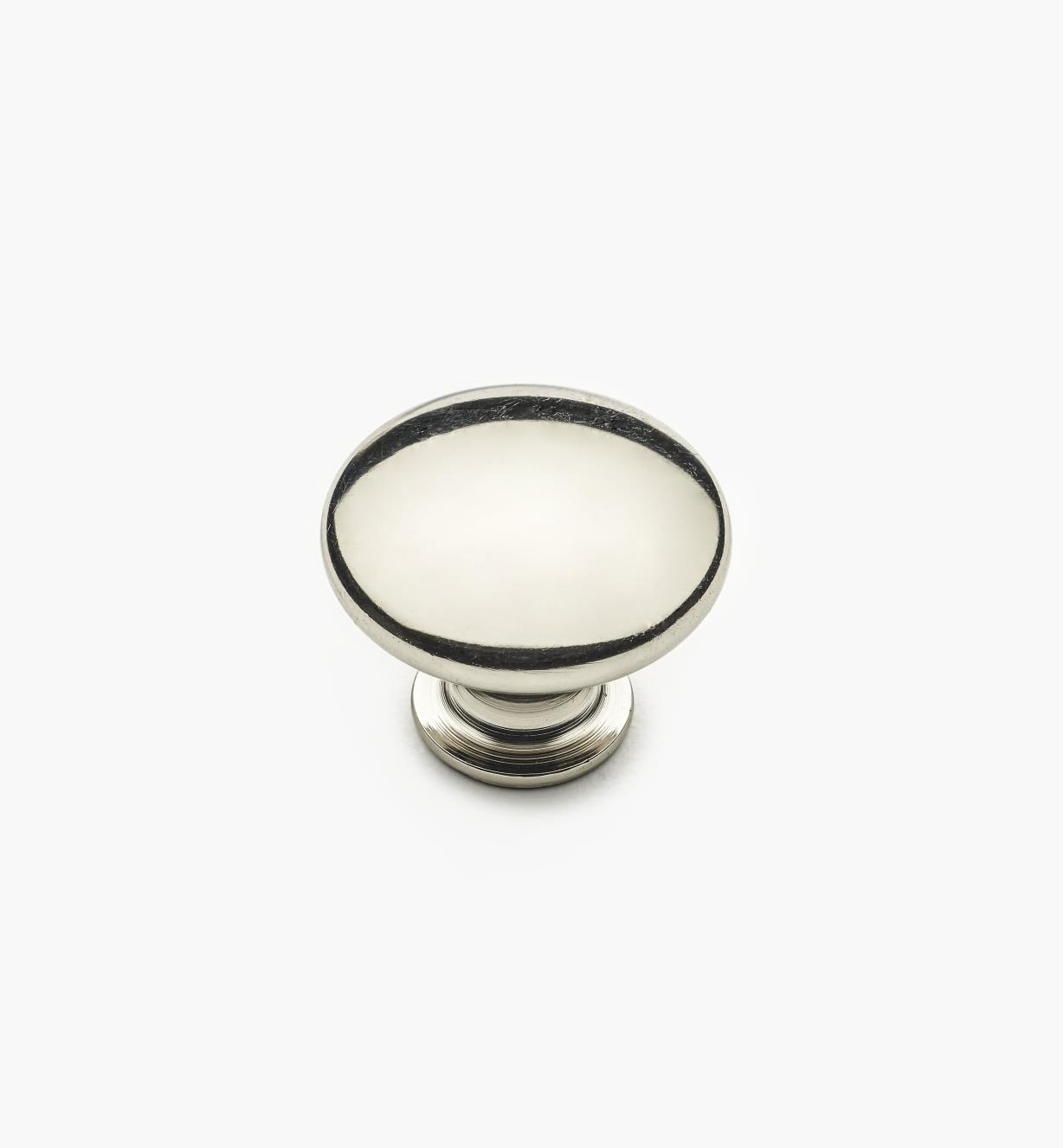 "02W4345 - 1"" x 3/4"" Polished Nickel Knob"