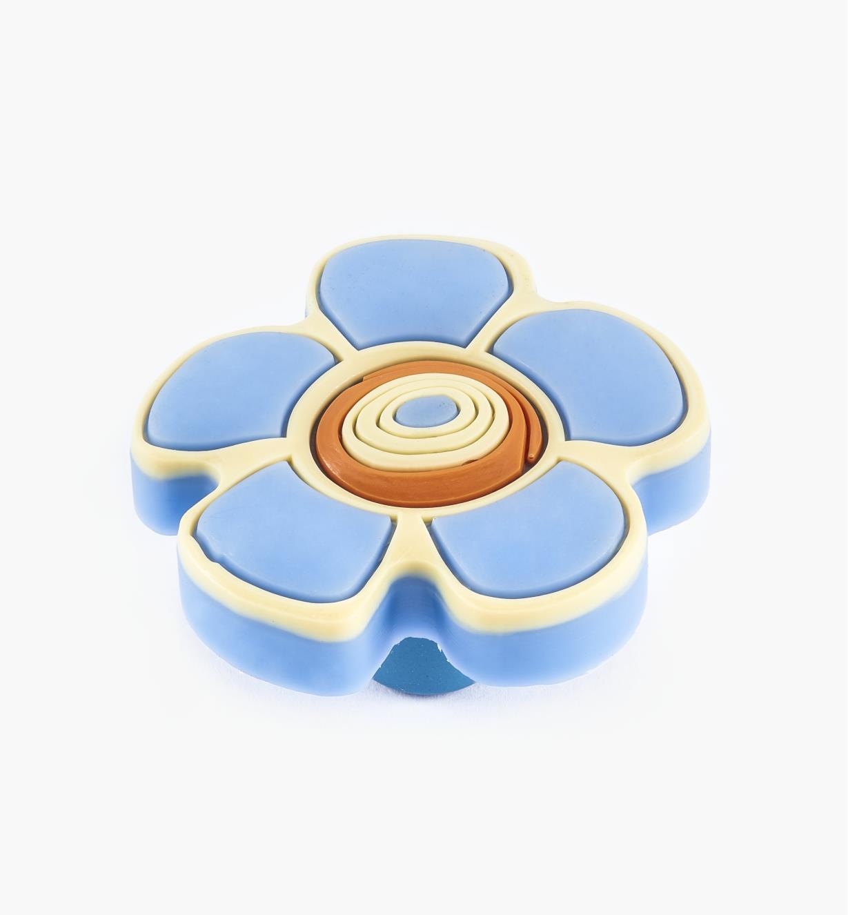 00W5615 - Blue Flower Knob