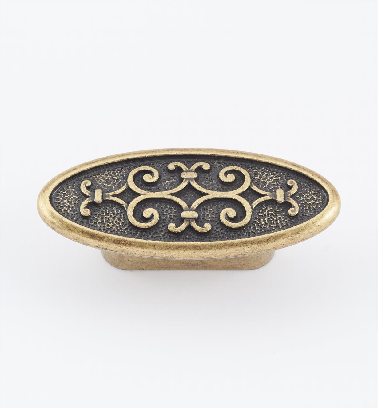 "01A2982 - 2 7/8"" (32mm) Filigree Oval Knob"