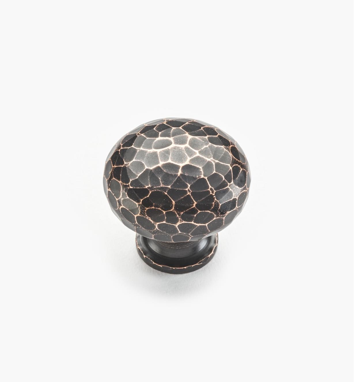 01W4345 - Hammered Oil-Rubbed Bronze Knob